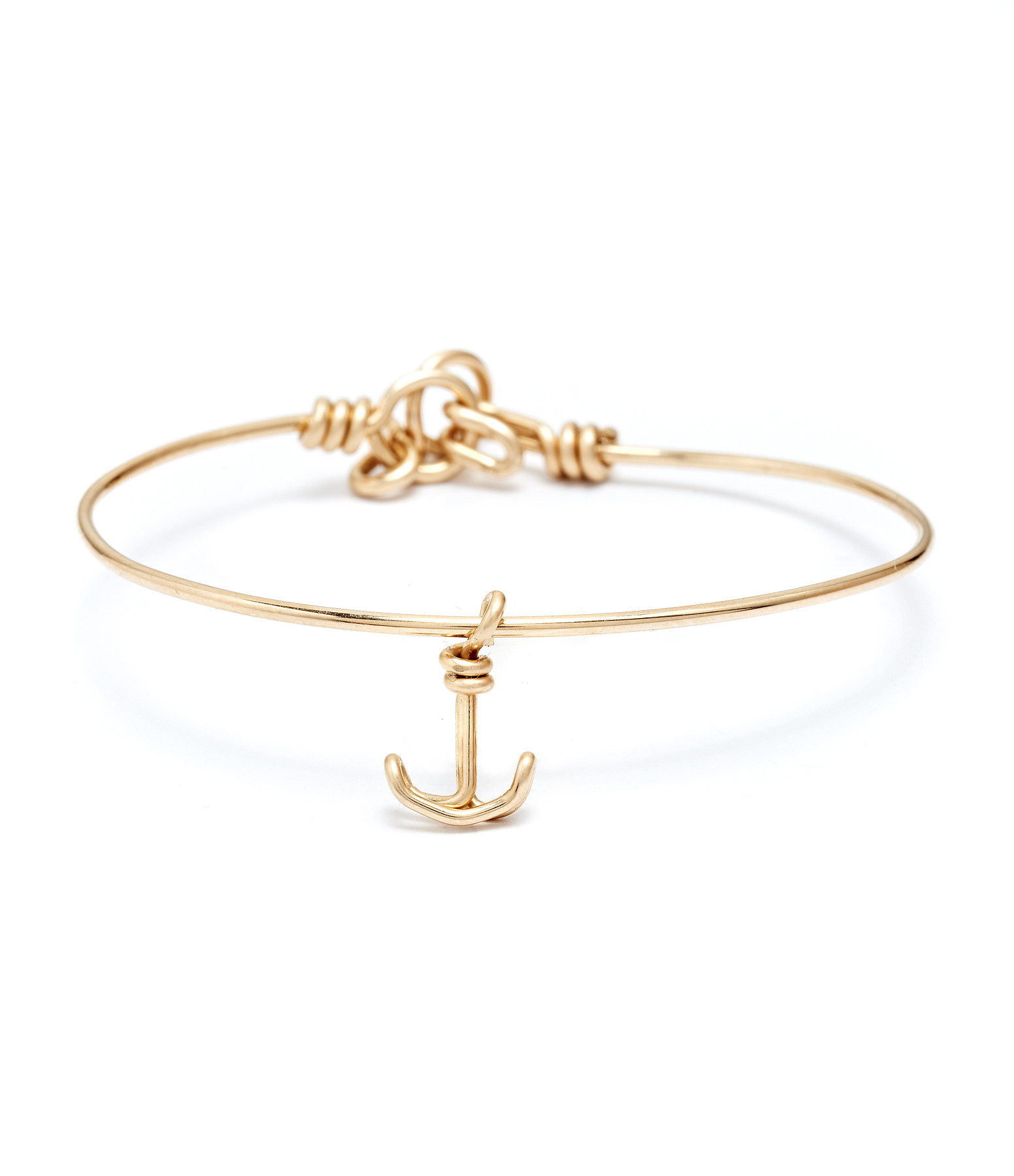 ATELIER PAULIN - Jonc Pampille Charm Ancre Gold Filled Jaune