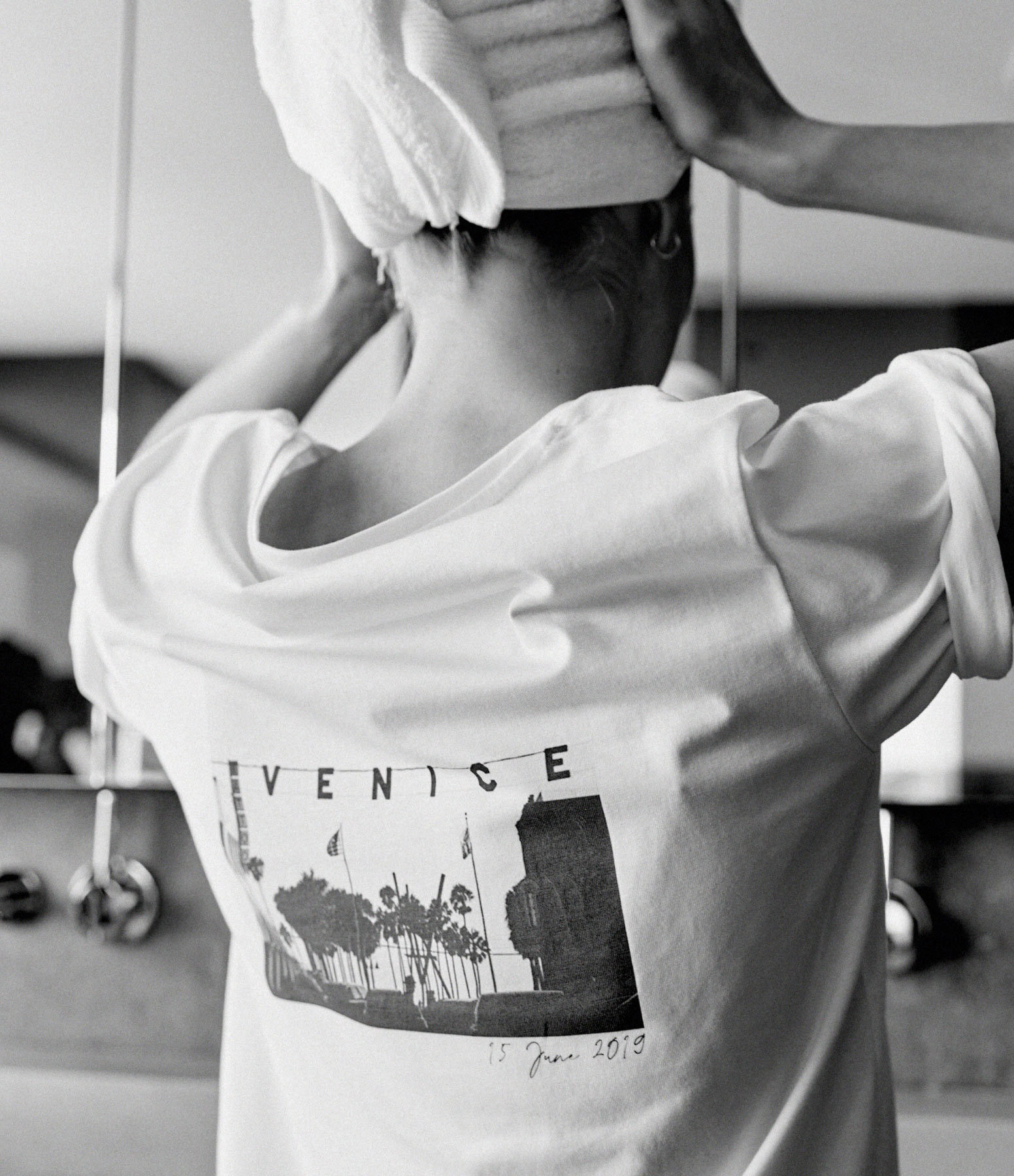 JEANNE VOULAND - Tee-shirt Fall Los Angeles Blanc