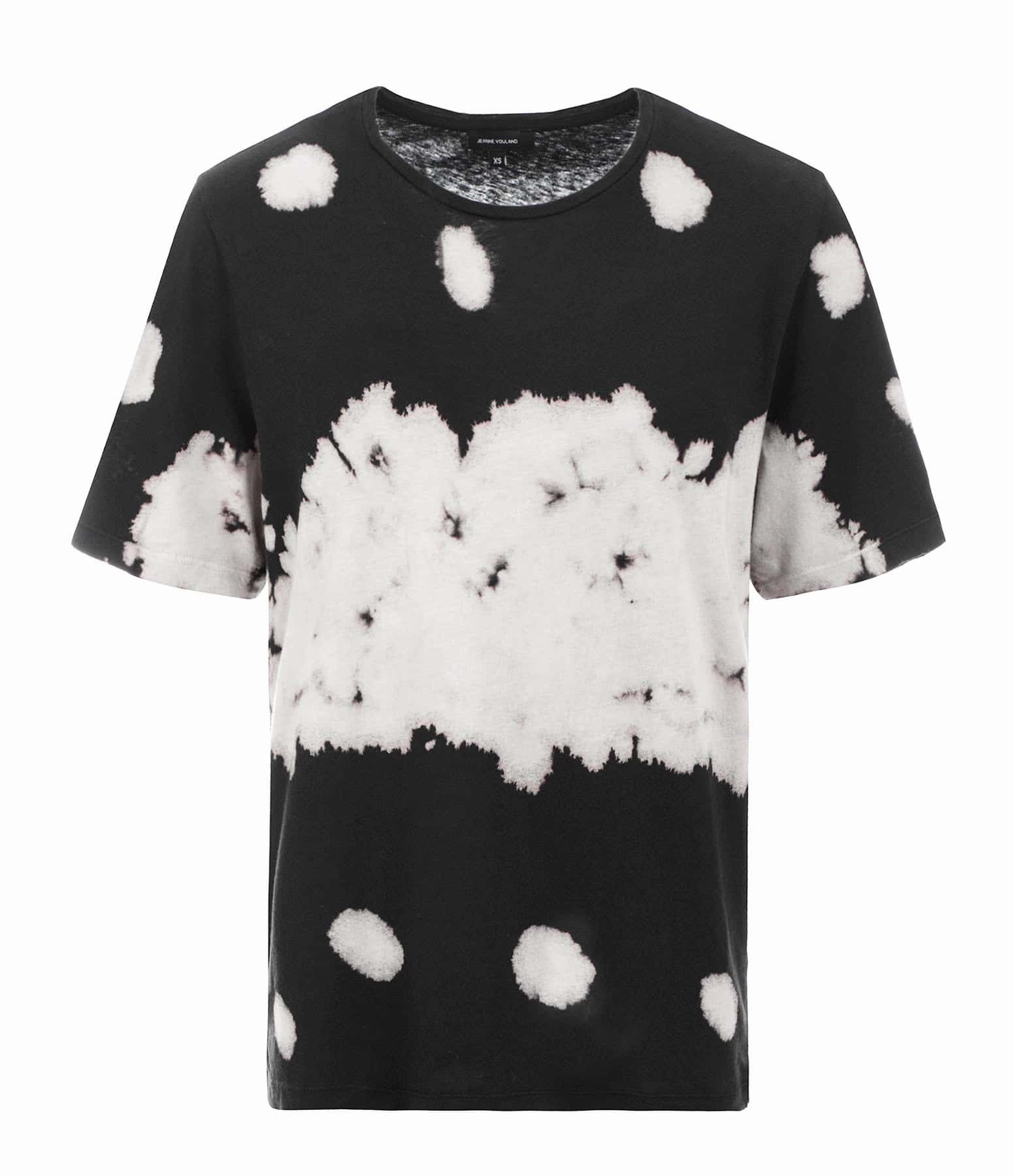 JEANNE VOULAND - Tee-shirt Fay Coton Lin Tie and Dye Noir Blanc