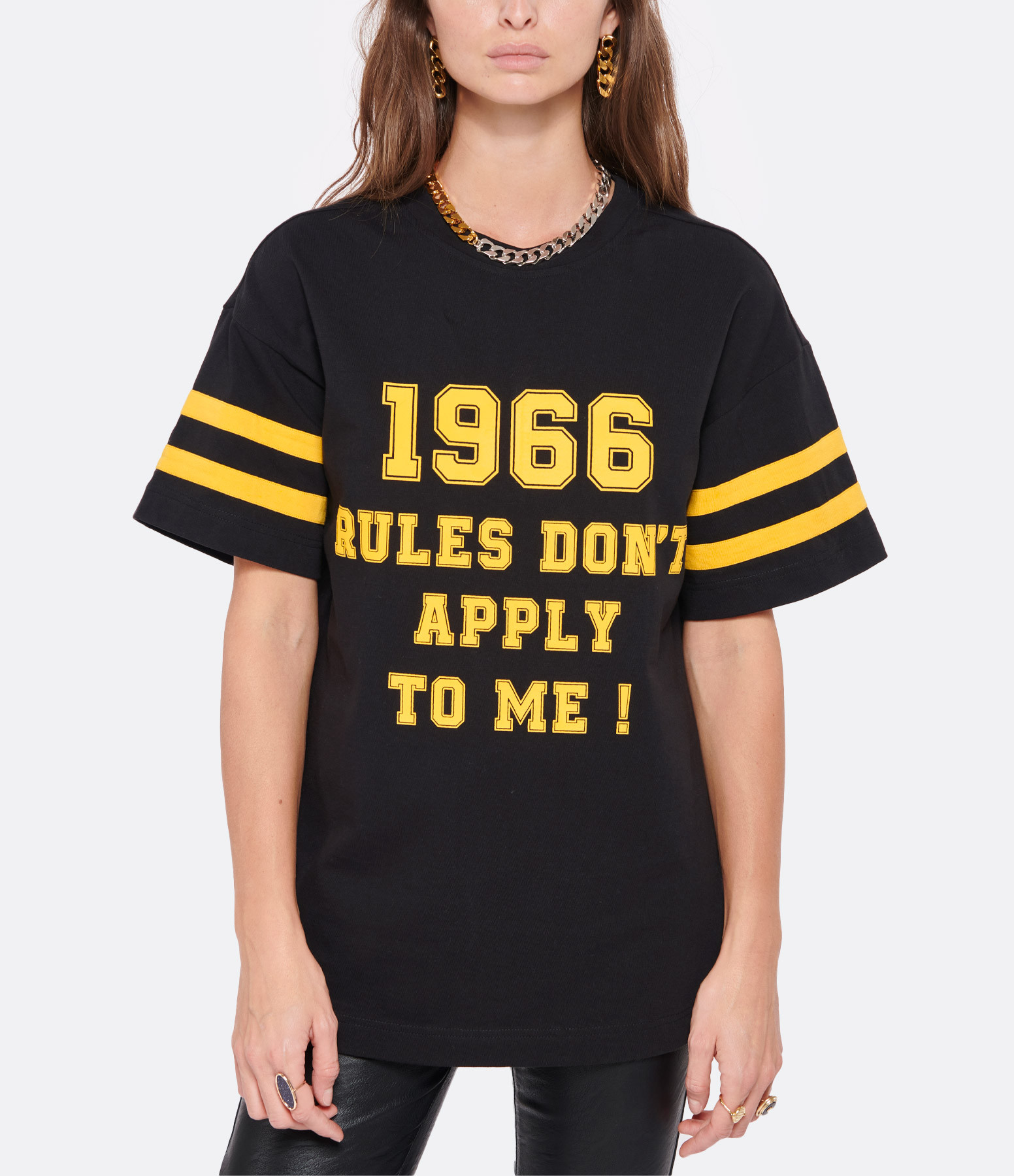 LAURENCE BRAS - Tee-shirt Rugby Coton Noir
