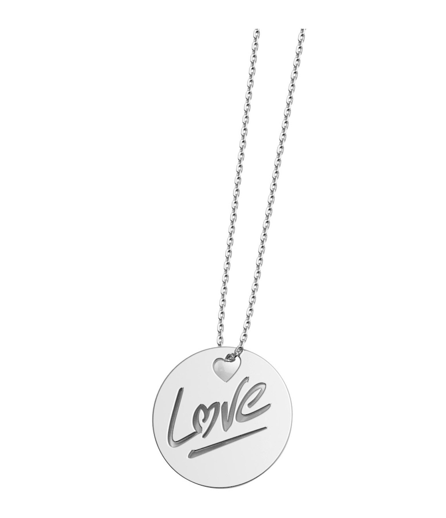 NAVA JOAILLERIE - Collier Rond Love L Or Blanc
