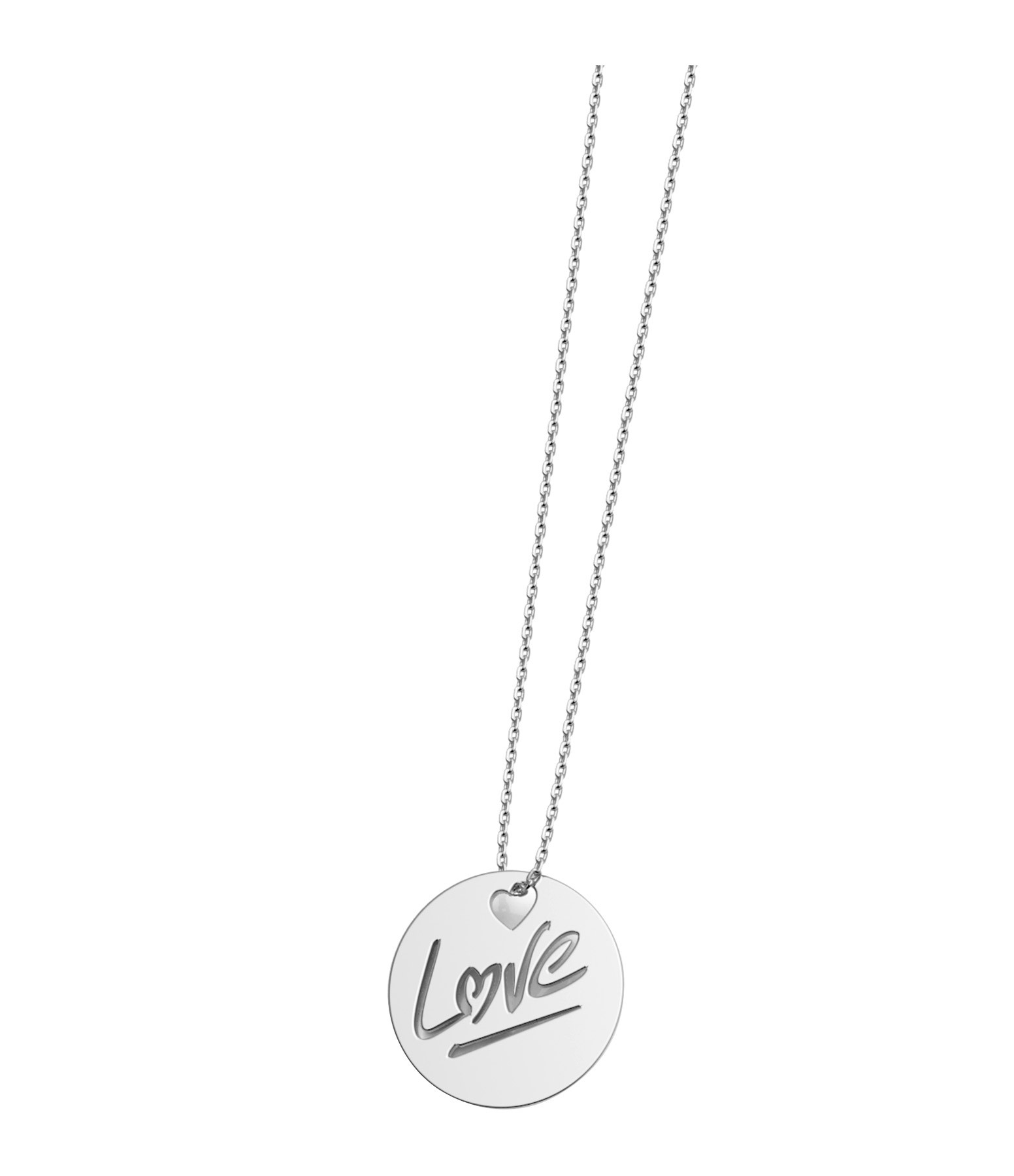 NAVA JOAILLERIE - Collier Rond Love S Or Blanc