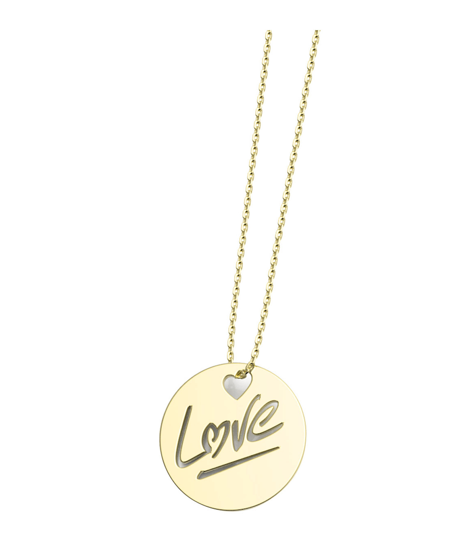 NAVA JOAILLERIE - Collier Rond Love L Or Jaune