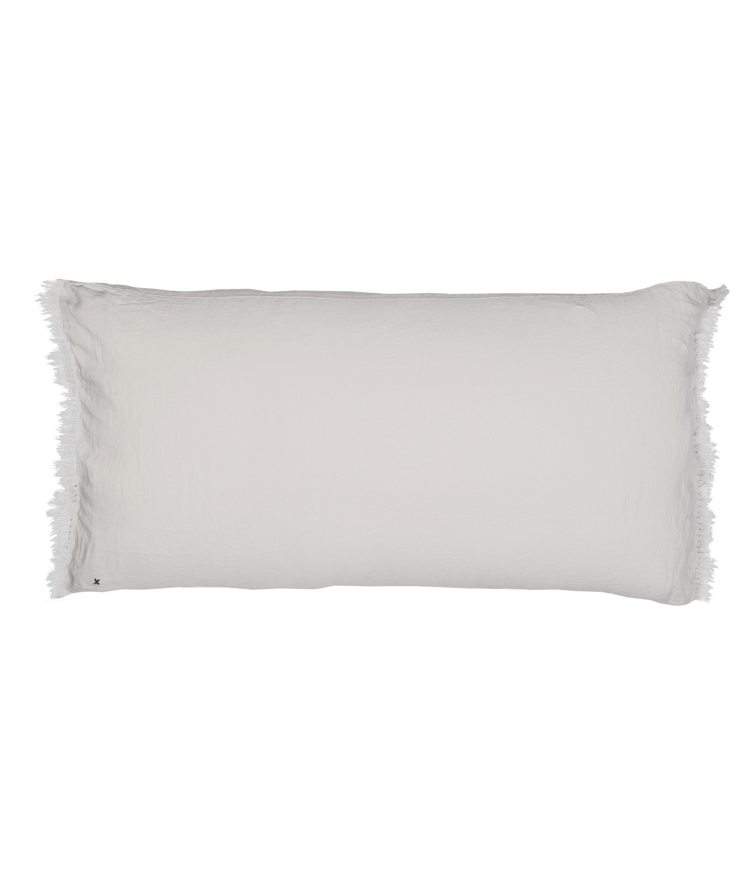 BED AND PHILOSOPHY - Coussin Lovers Frangé Lin Plume