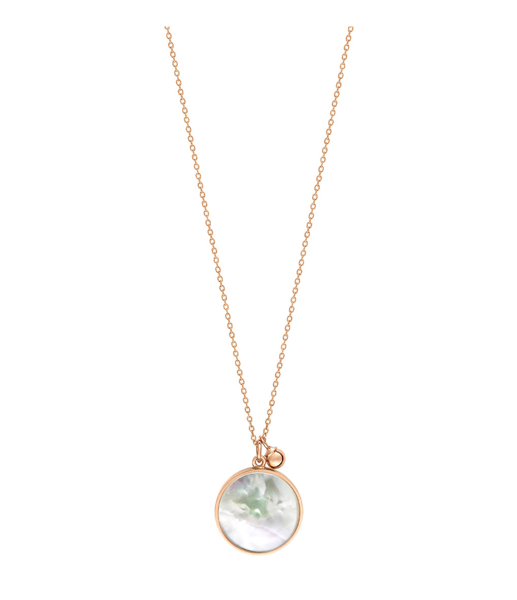 GINETTE_NY - Collier Maria Disc Or Rose Perle