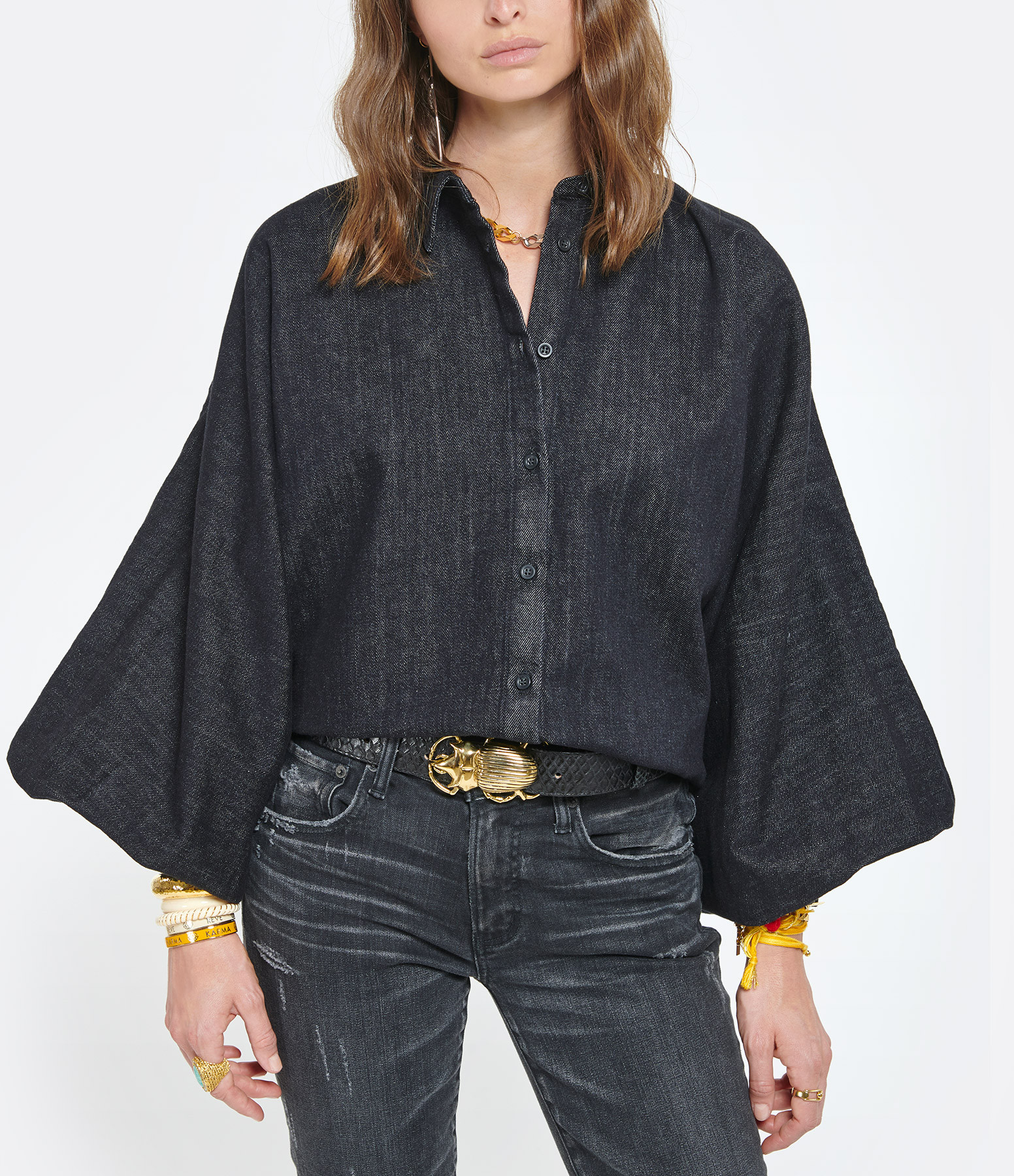 MADE IN TOMBOY - Chemise Claire Noir