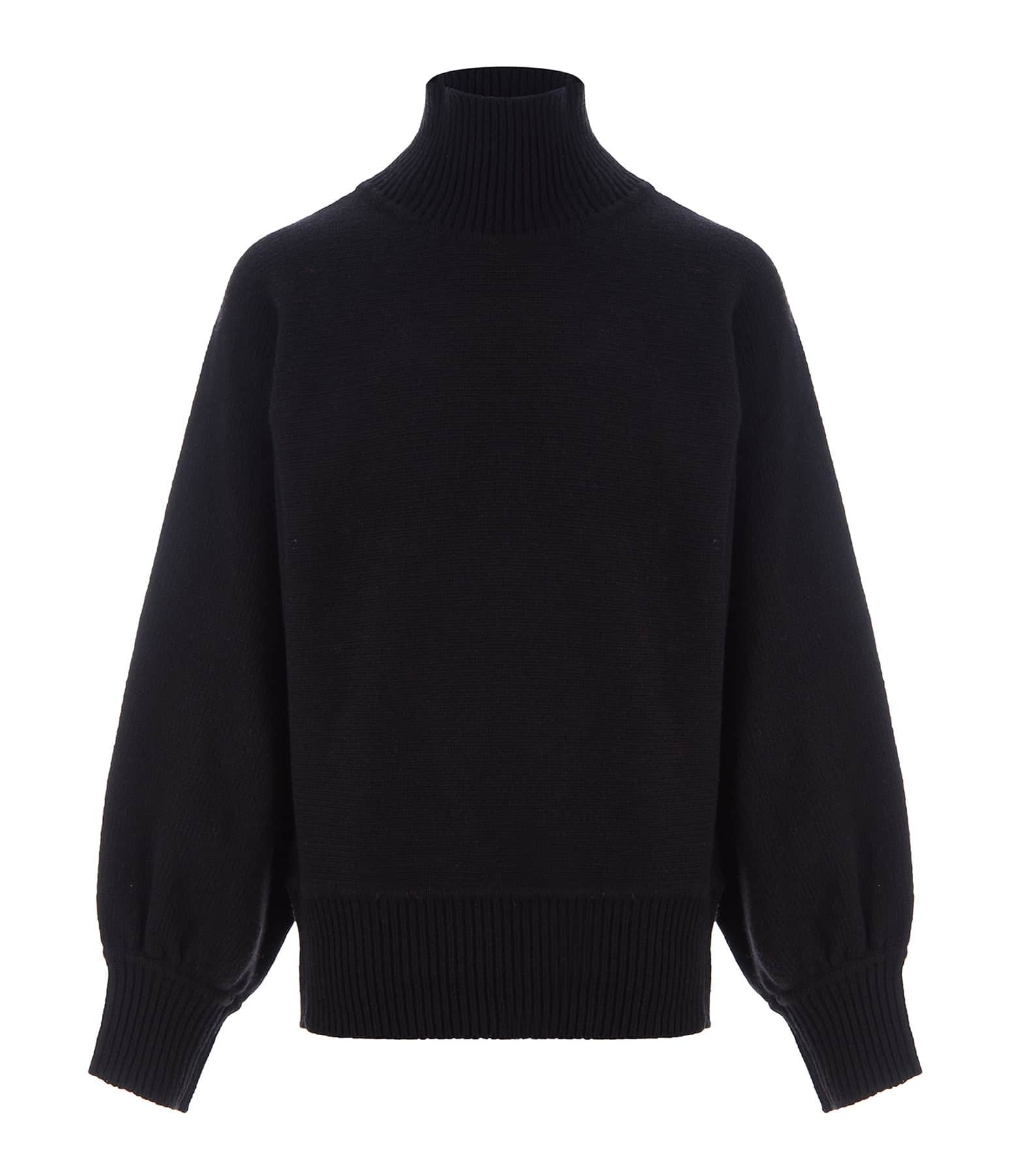 MADE IN TOMBOY - Pull Didi Col Roulé Laine Noir