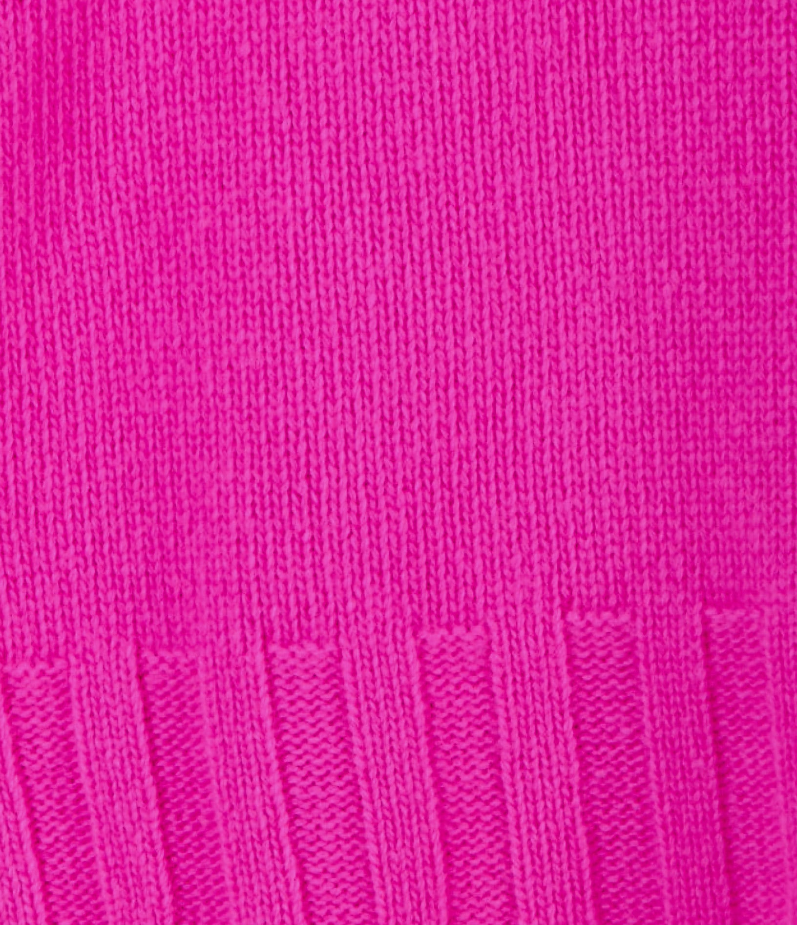 MADE IN TOMBOY - Pull Ely Col Roulé Laine Rose Fushia