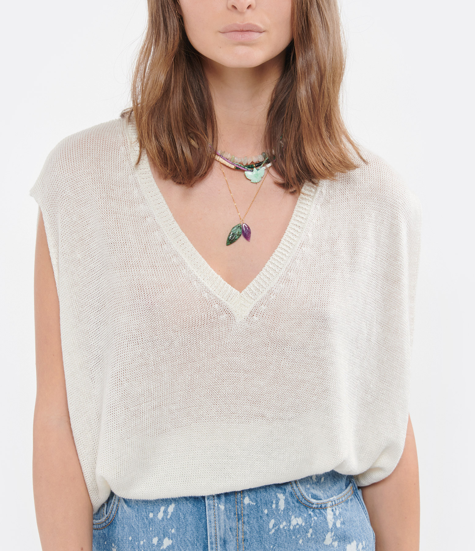 MAEVY - Top Sable Lin Beige
