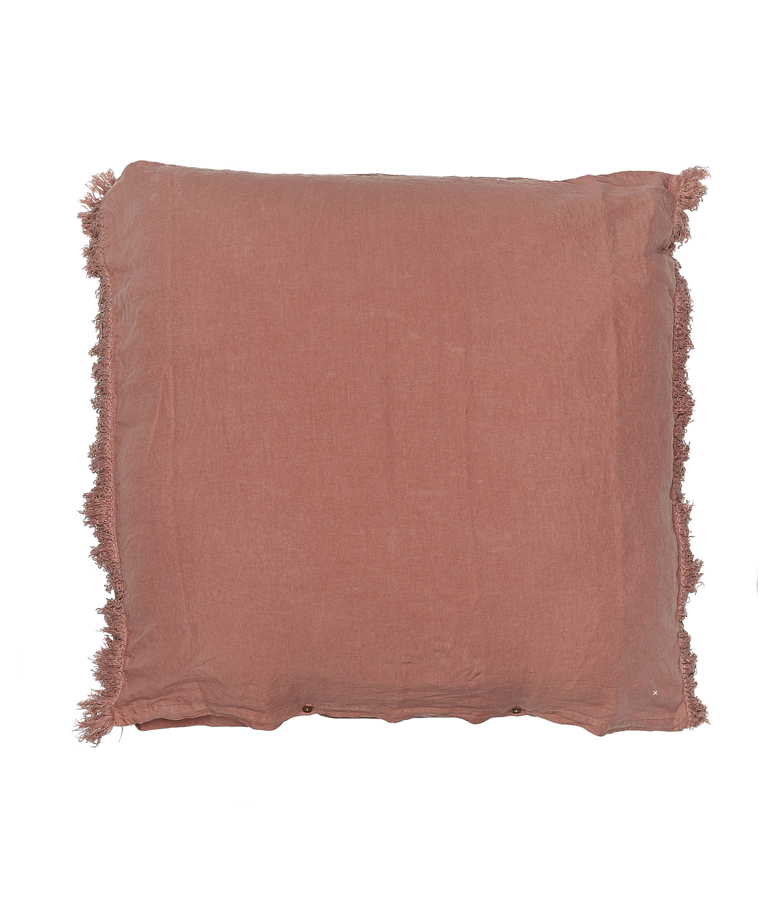 BED AND PHILOSOPHY - Coussin Carré Mellow Lin Rose Bud