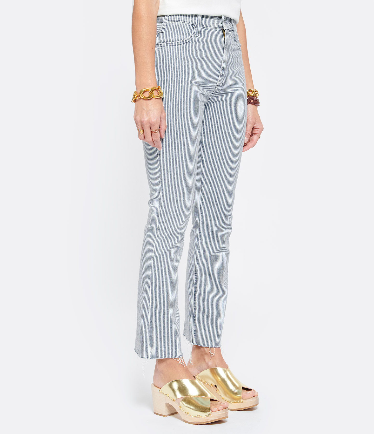 MOTHER - Jean The Hustler Ankle Fray All Aboard