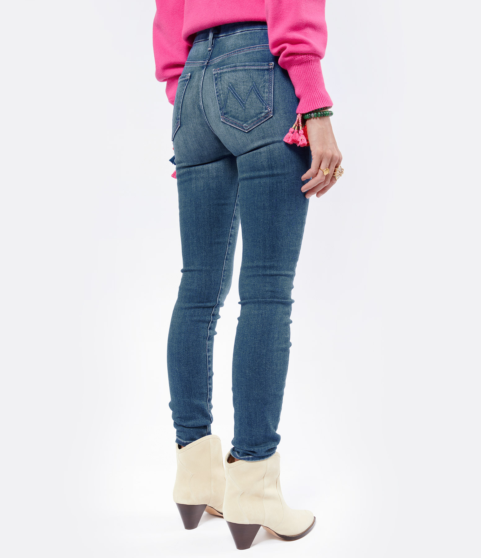 MOTHER - Jean High Waisted  Looker Coton Balls of Yarn