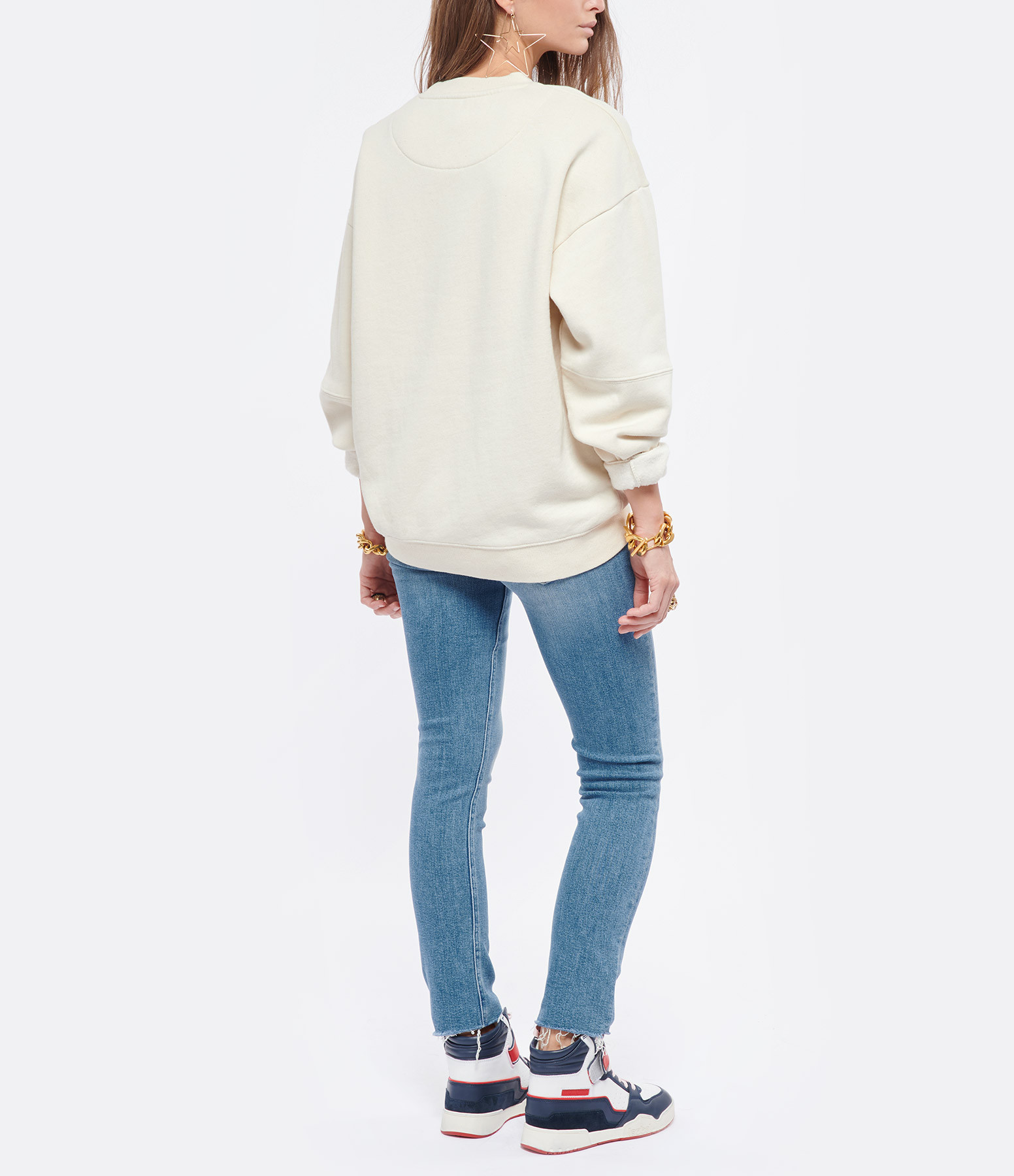 MOTHER - Jean Mid Rise Dazzler Ankle Fray Coton Riding The Cliffside