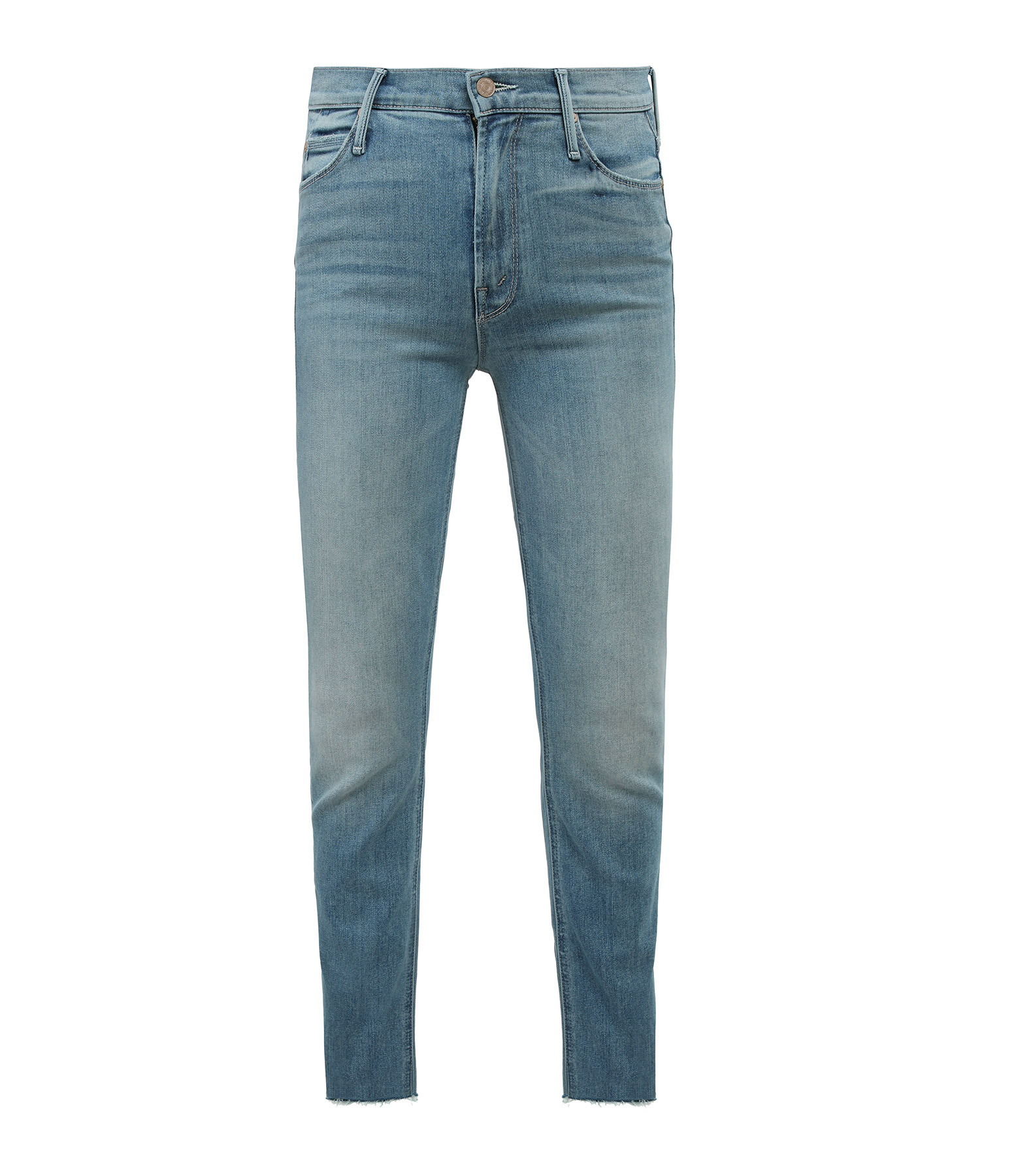 MOTHER - Jean The Mid Rise Dazzler Ankle Fray Jackpot Coton Denim