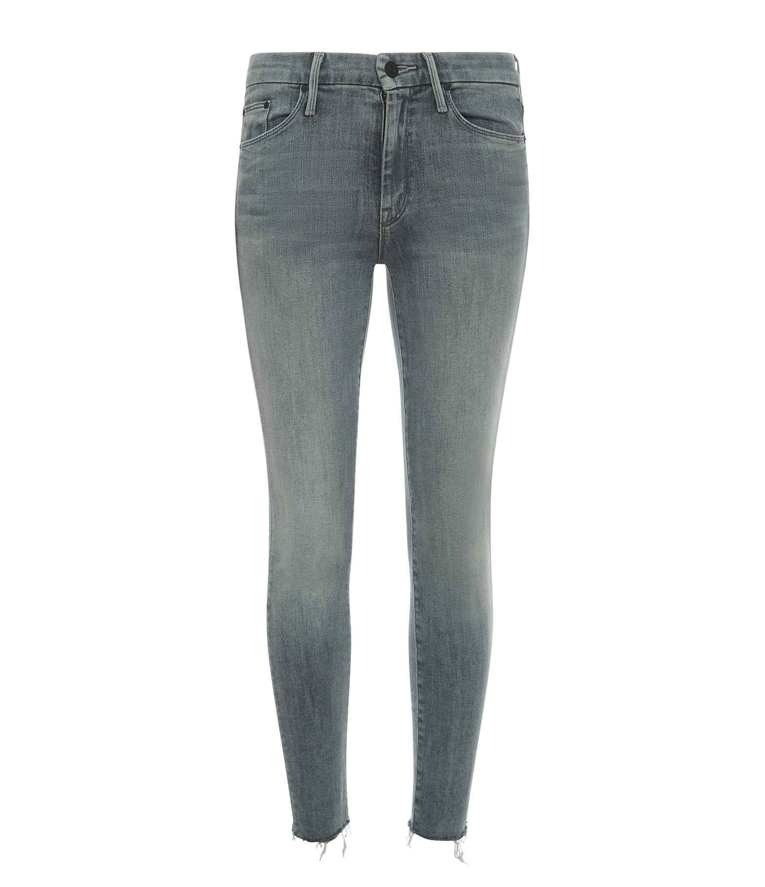 MOTHER - Jean The Looker Ankle Fray Skinny Anthracite