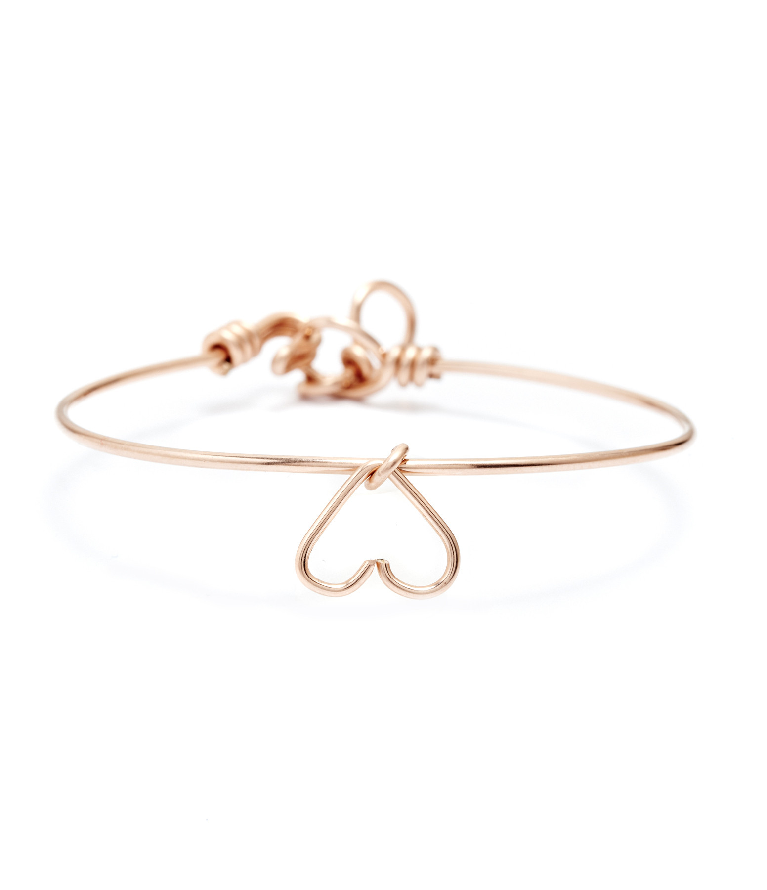 ATELIER PAULIN - Jonc Pampille Charm Coeur Gold Filled Rose