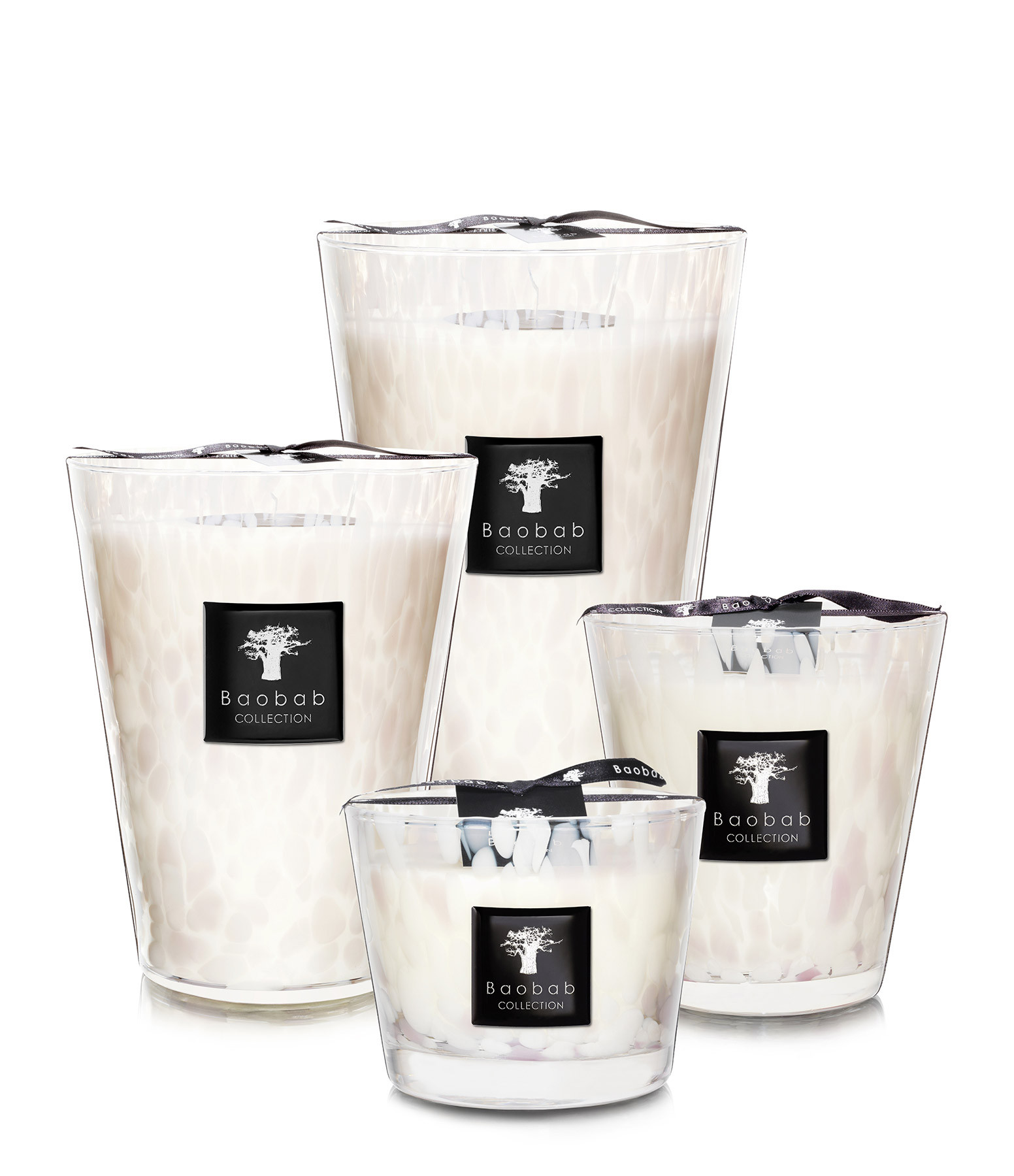 BAOBAB COLLECTION - Bougie Max 16 Pearls Blanc