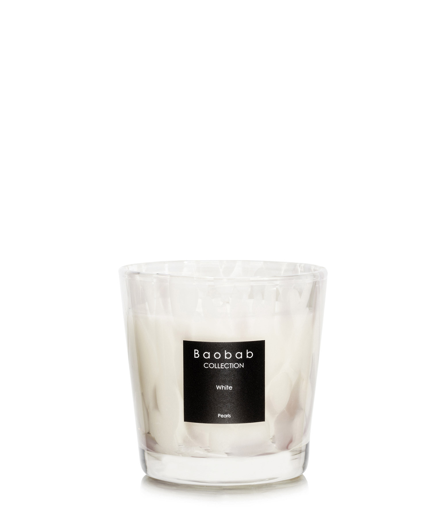 BAOBAB COLLECTION - Bougie White Pearls Max One