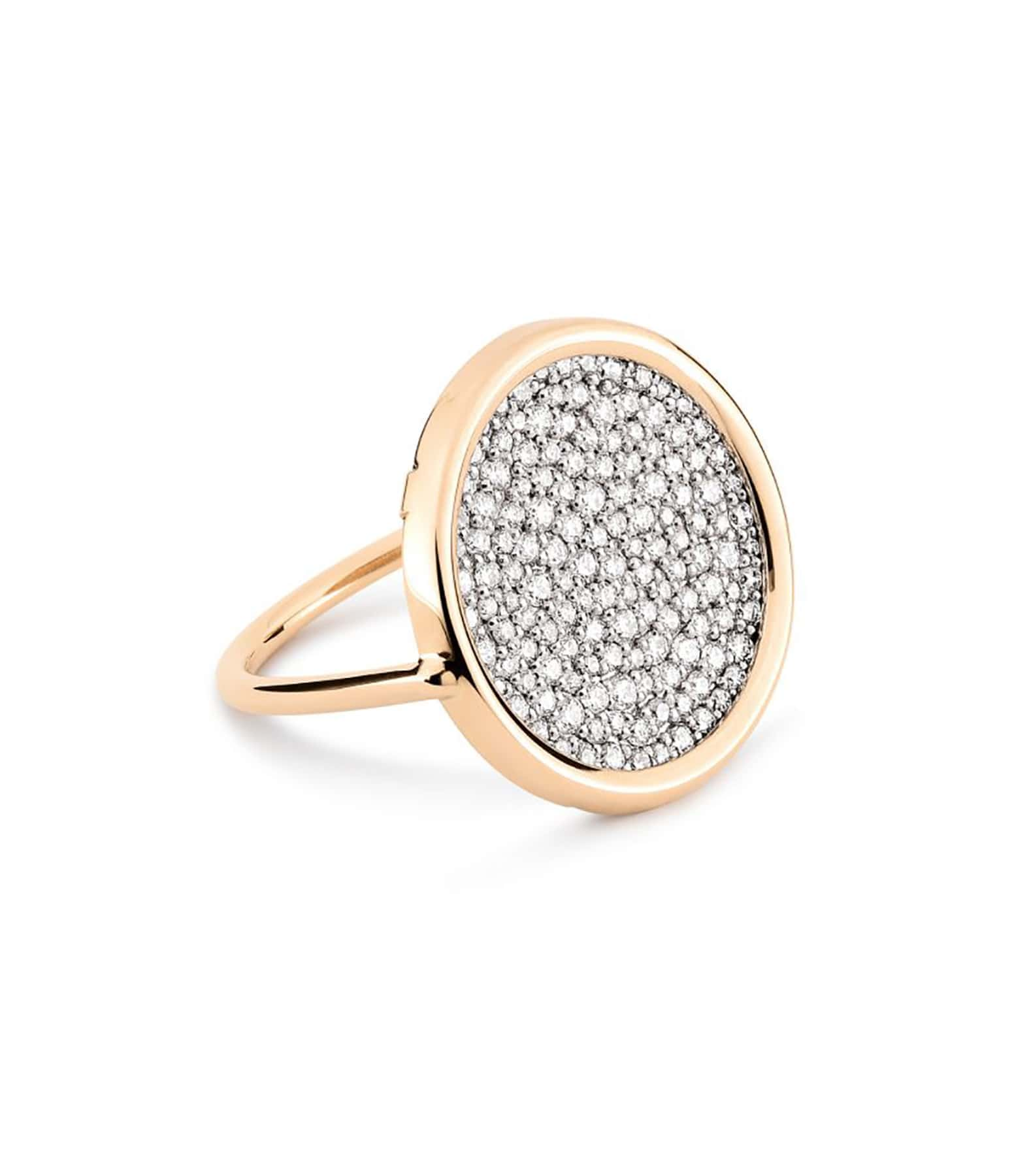 GINETTE NY - Bague Ever Large Disc Diamants