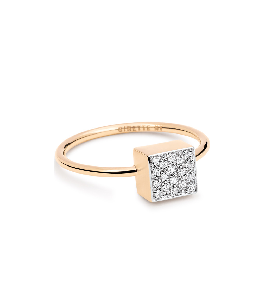 Bague Baby Square Ever Diamants - GINETTE_NY