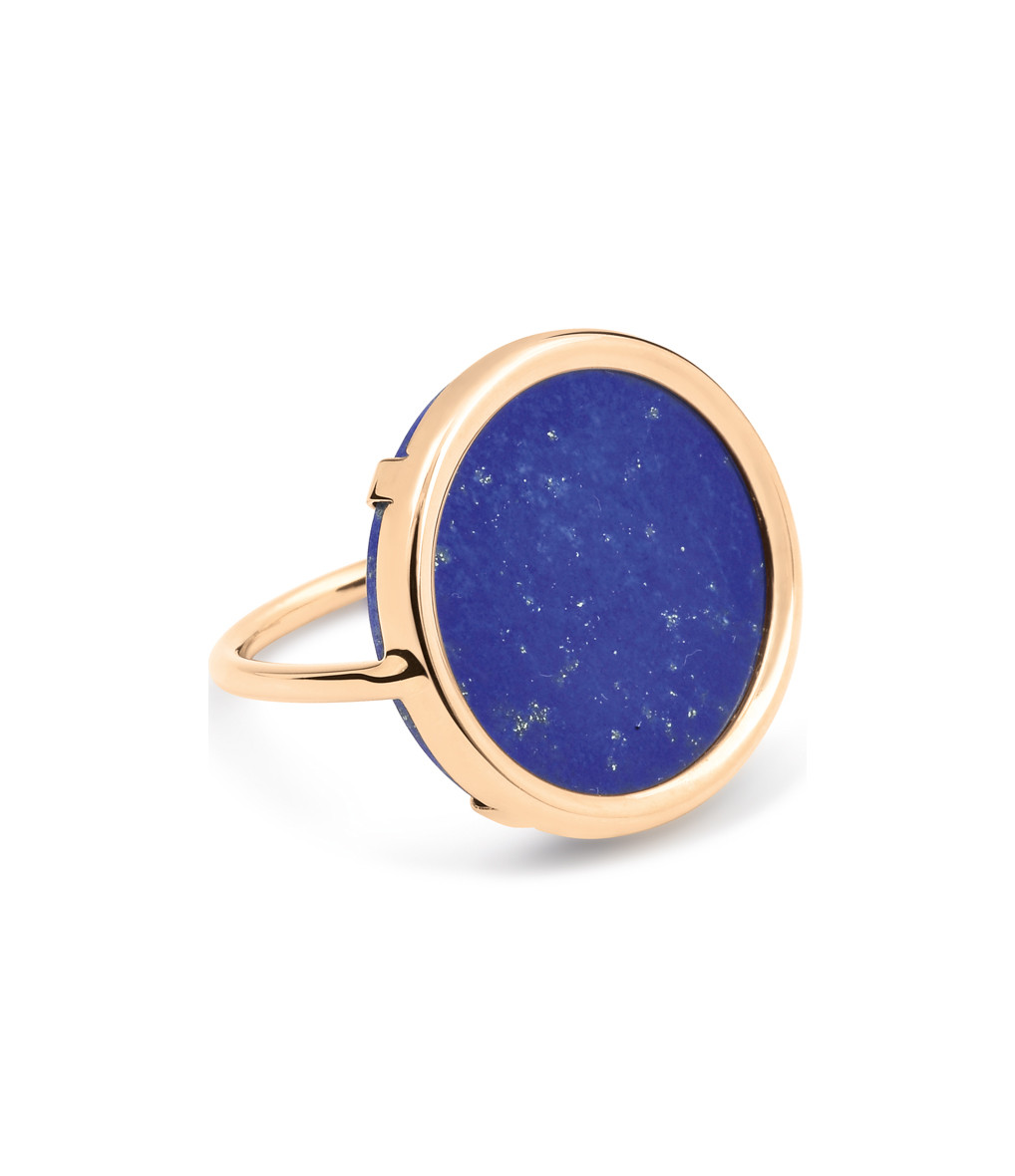 Bague Ever Disc Lapis  - GINETTE_NY