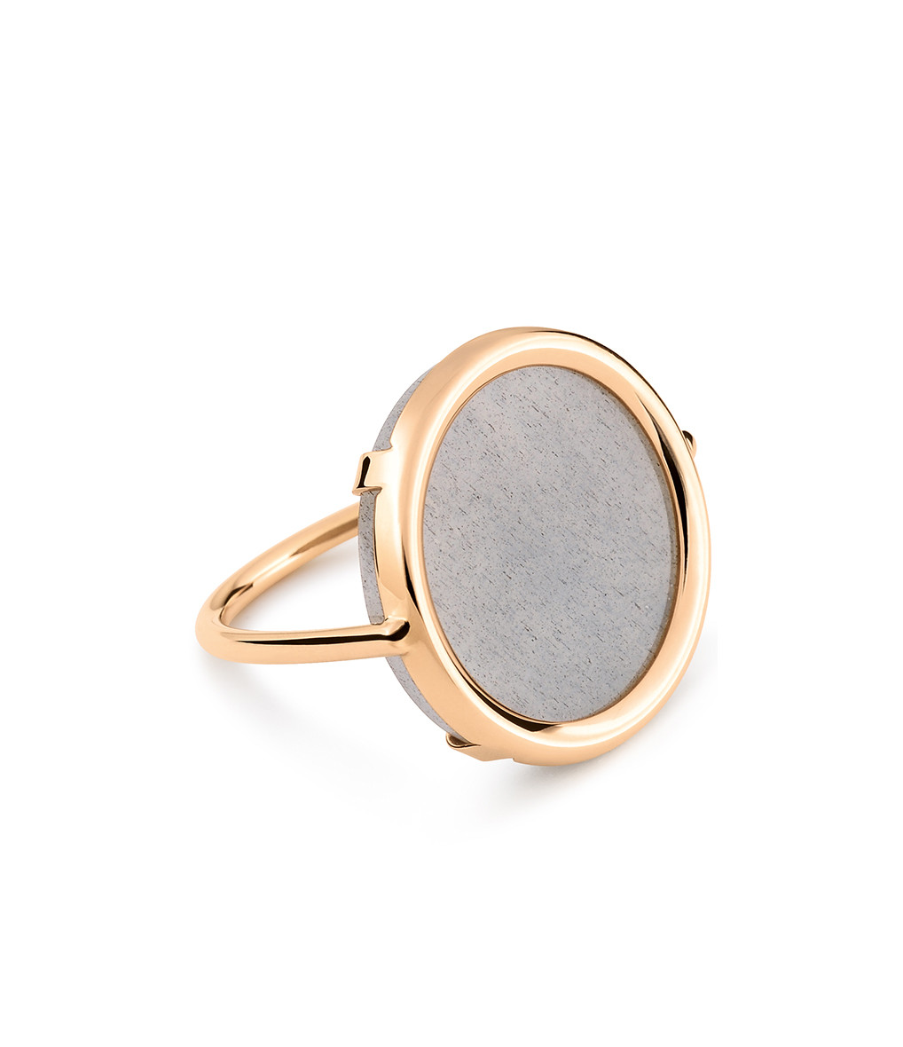 GINETTE_NY - Bague Ever Disc Moonstone