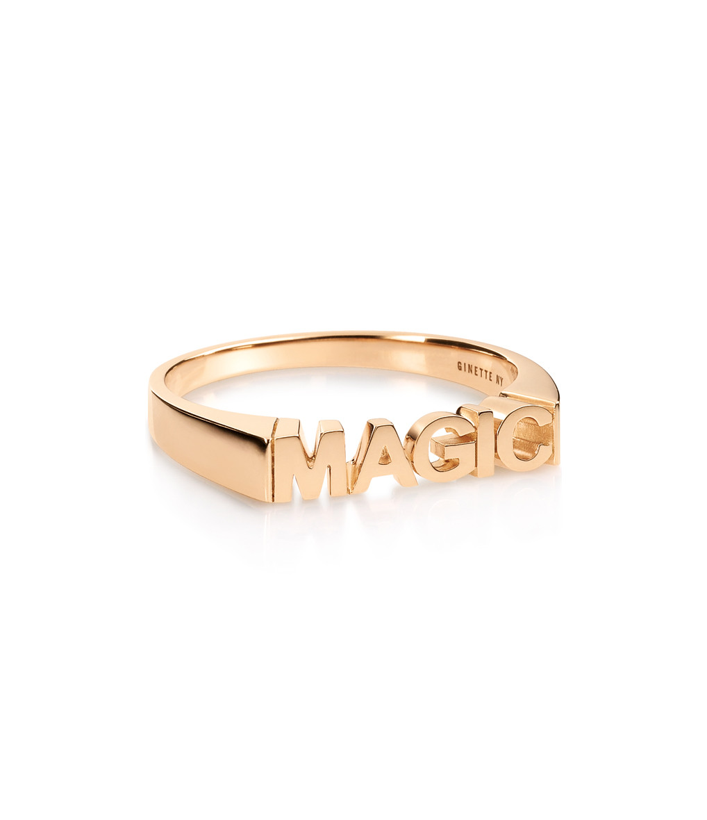 GINETTE_NY - Bague Fairies Magic Or Rose