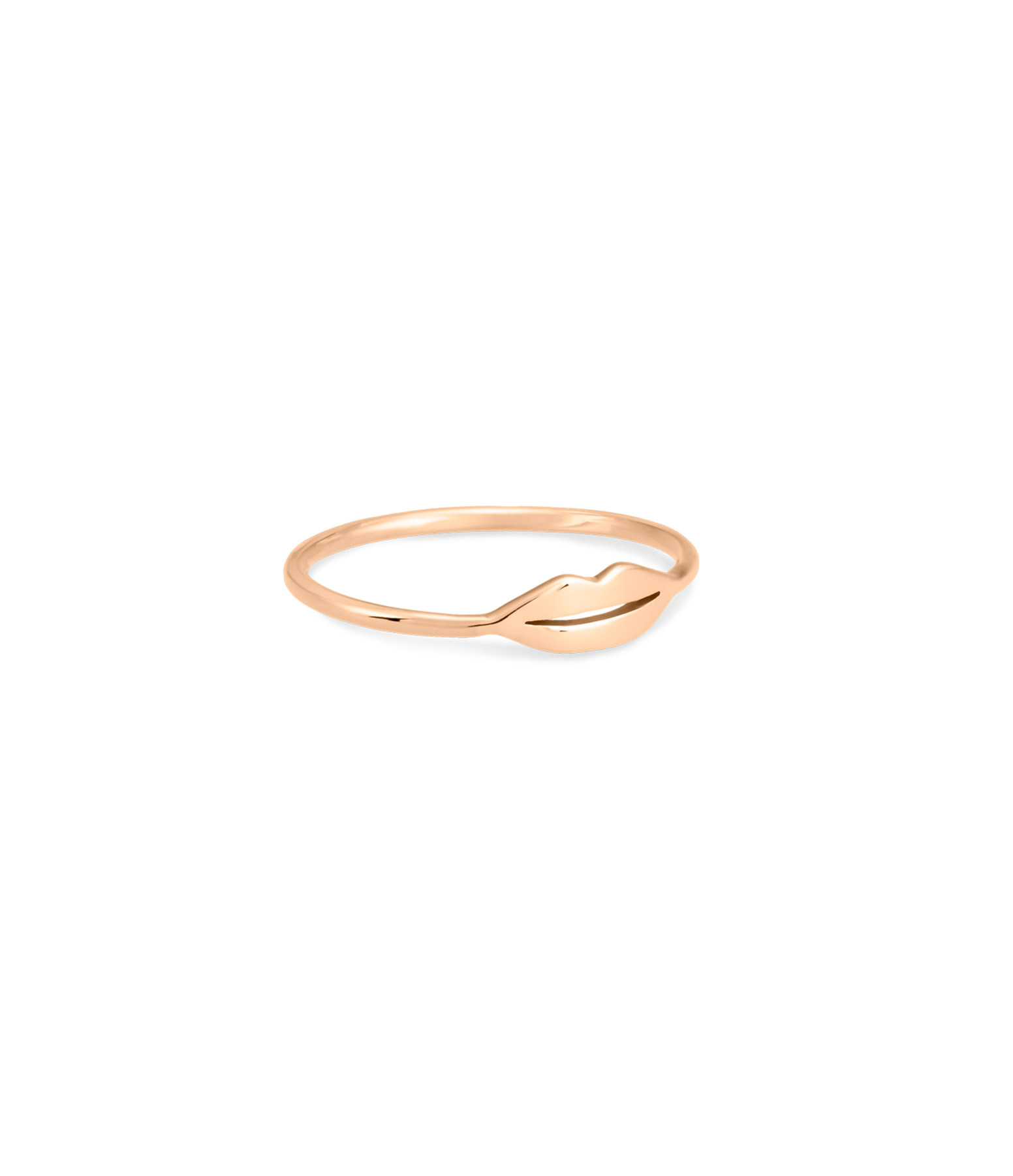 GINETTE NY - Bague Mini French Kiss Or Rose