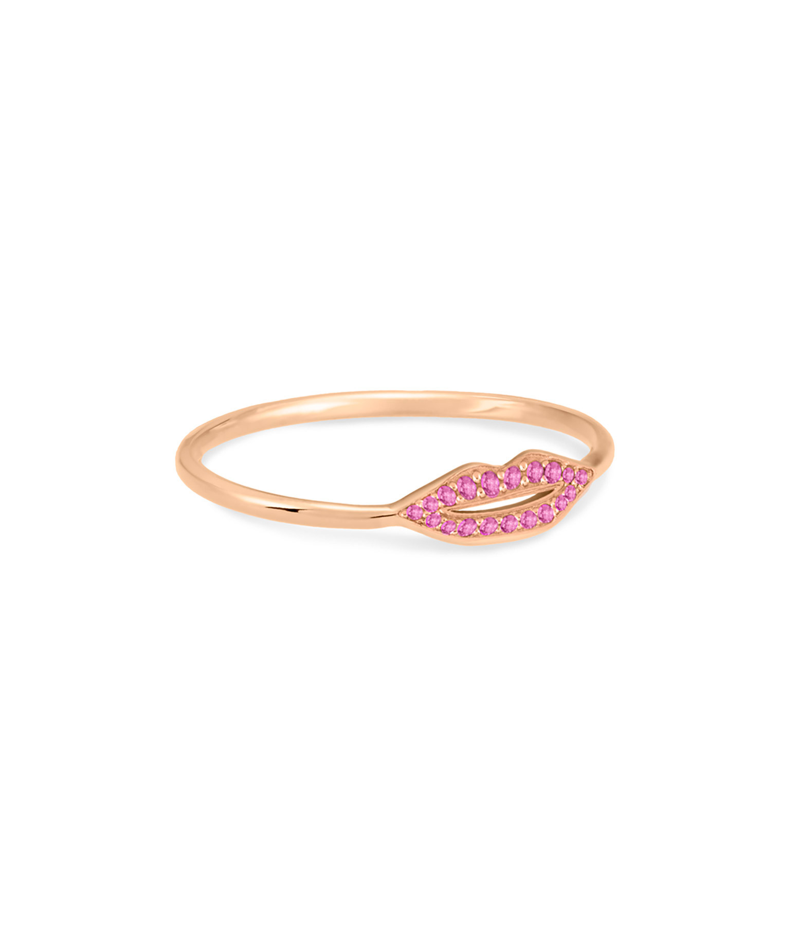 GINETTE NY - Bague French Kiss Saphirs Roses Or Rose