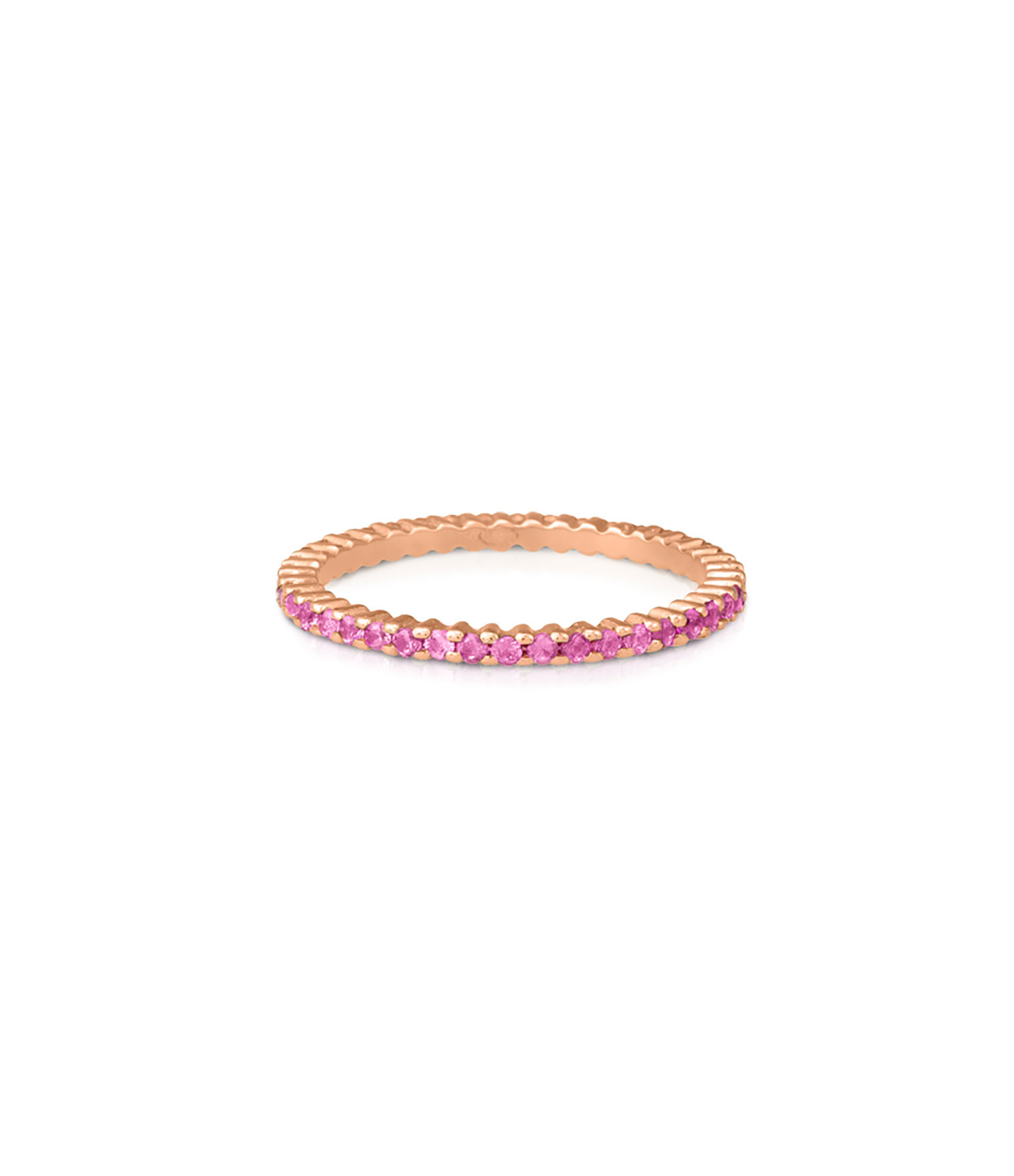GINETTE NY - Bague Alliance French Kiss Saphirs Roses Or Rose
