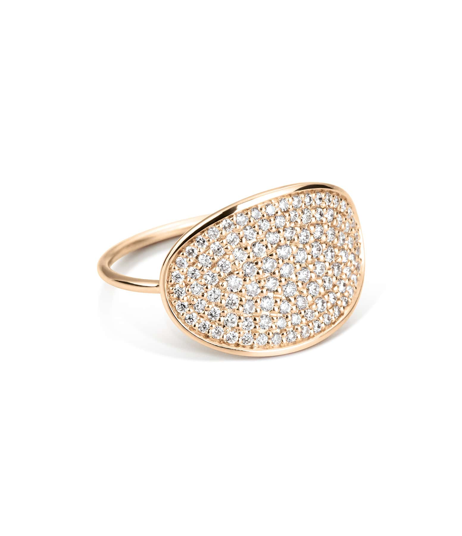 Bague Large Sequin Diamond - GINETTE_NY