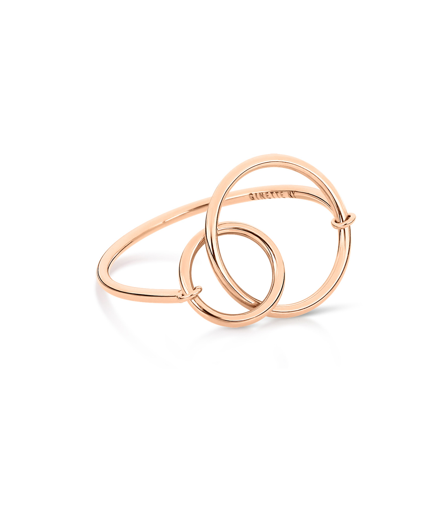 GINETTE NY - Bague Tiny Fusion Or Rose