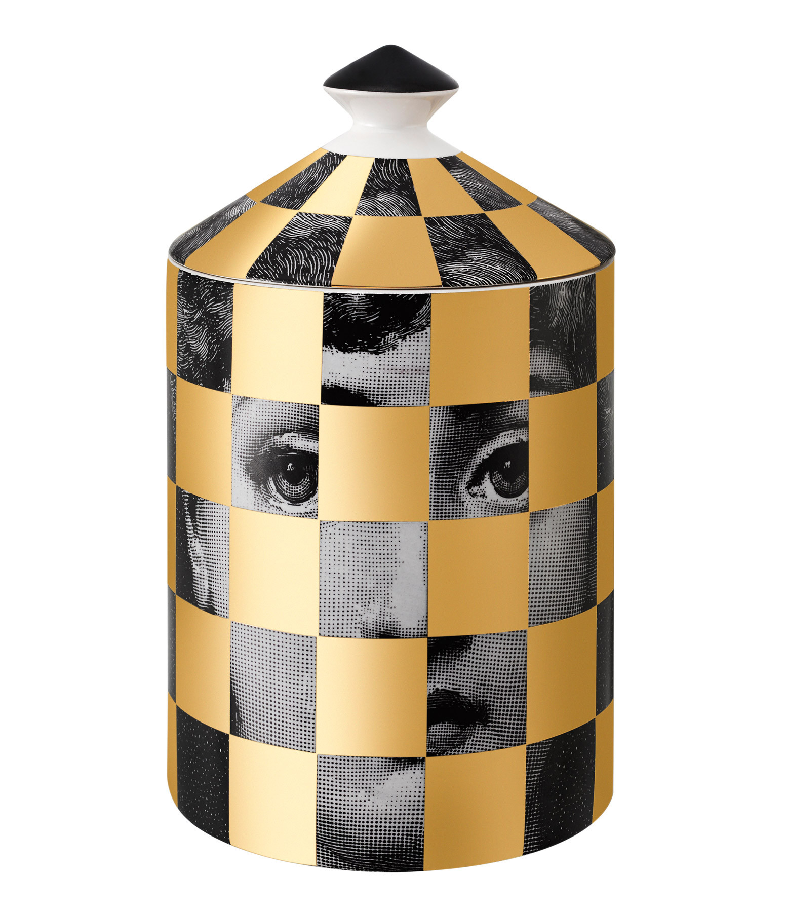 FORNASETTI - Bougie Parfumée 300g Scacco Gold