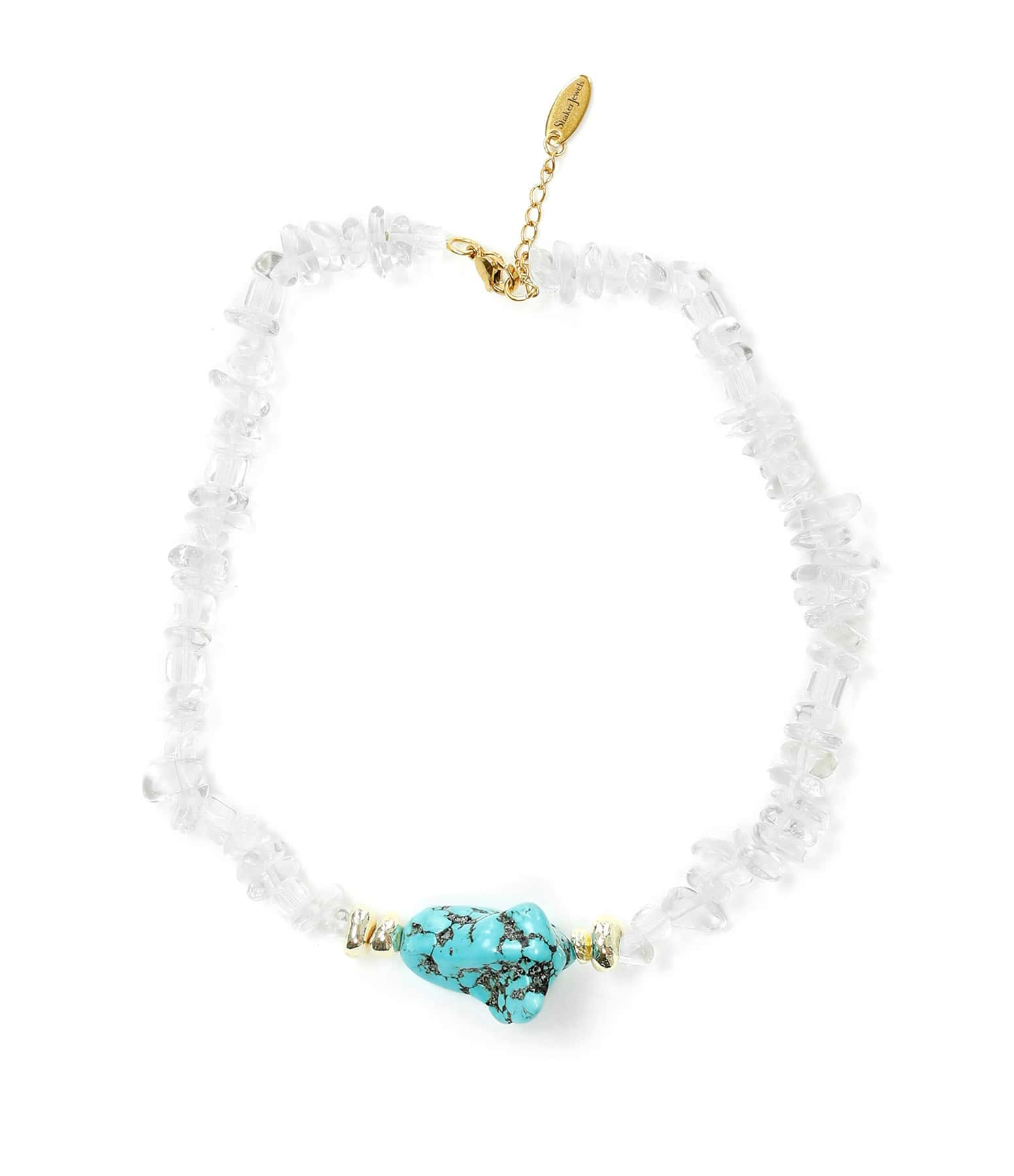 SHAKER JEWELS - Collier Plax Turquoise Plaqué Or