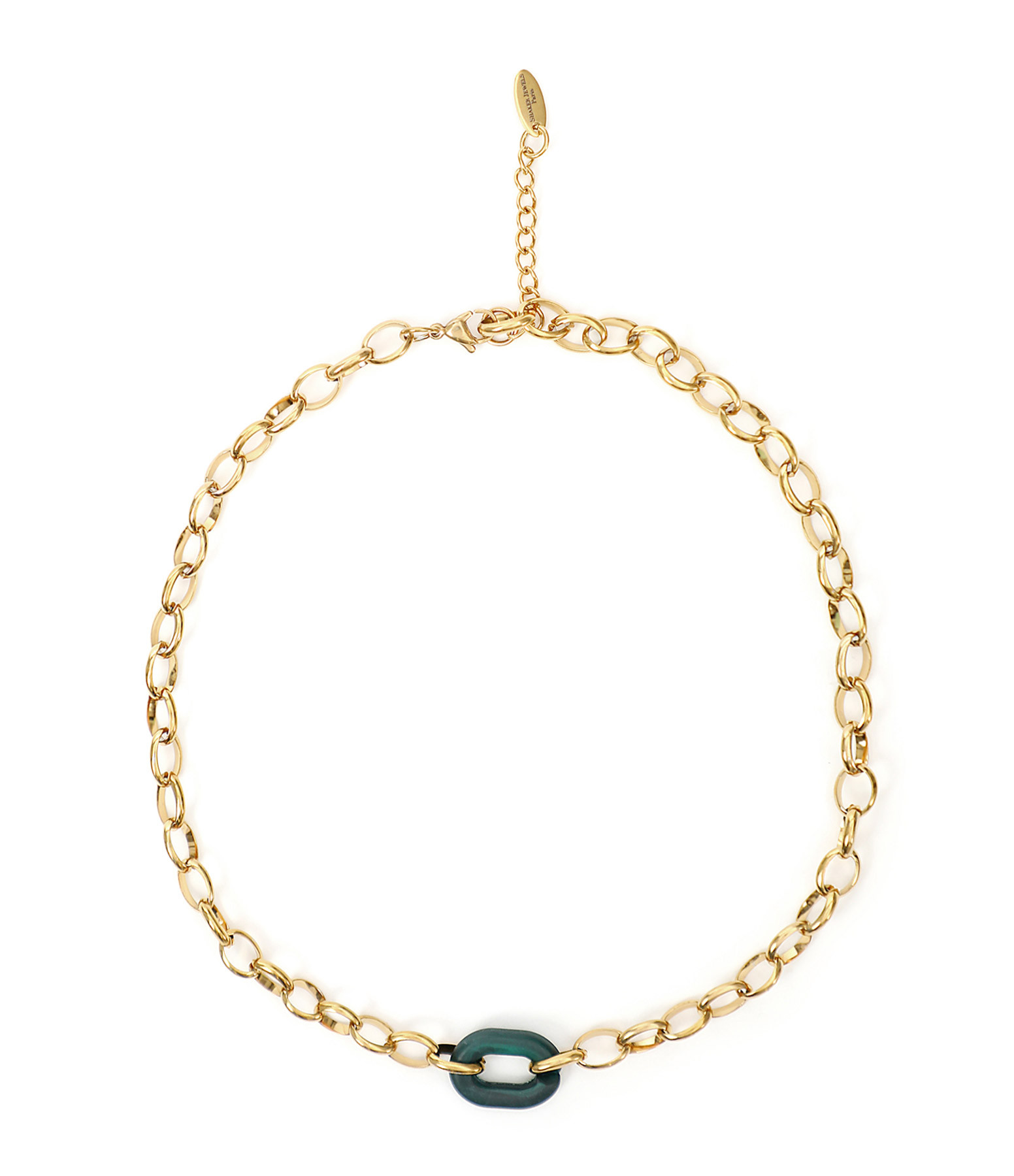 SHAKER JEWELS - Collier Lisia Boucle Maille Plaqué Or