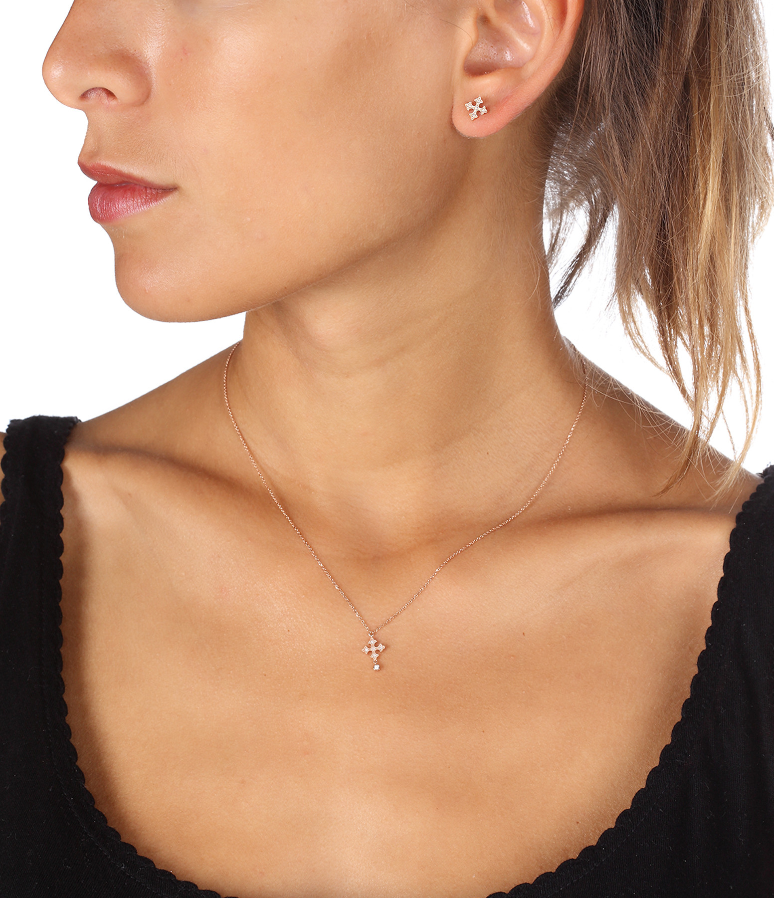 Collier Passion Simple Diams - STONE  Or rose