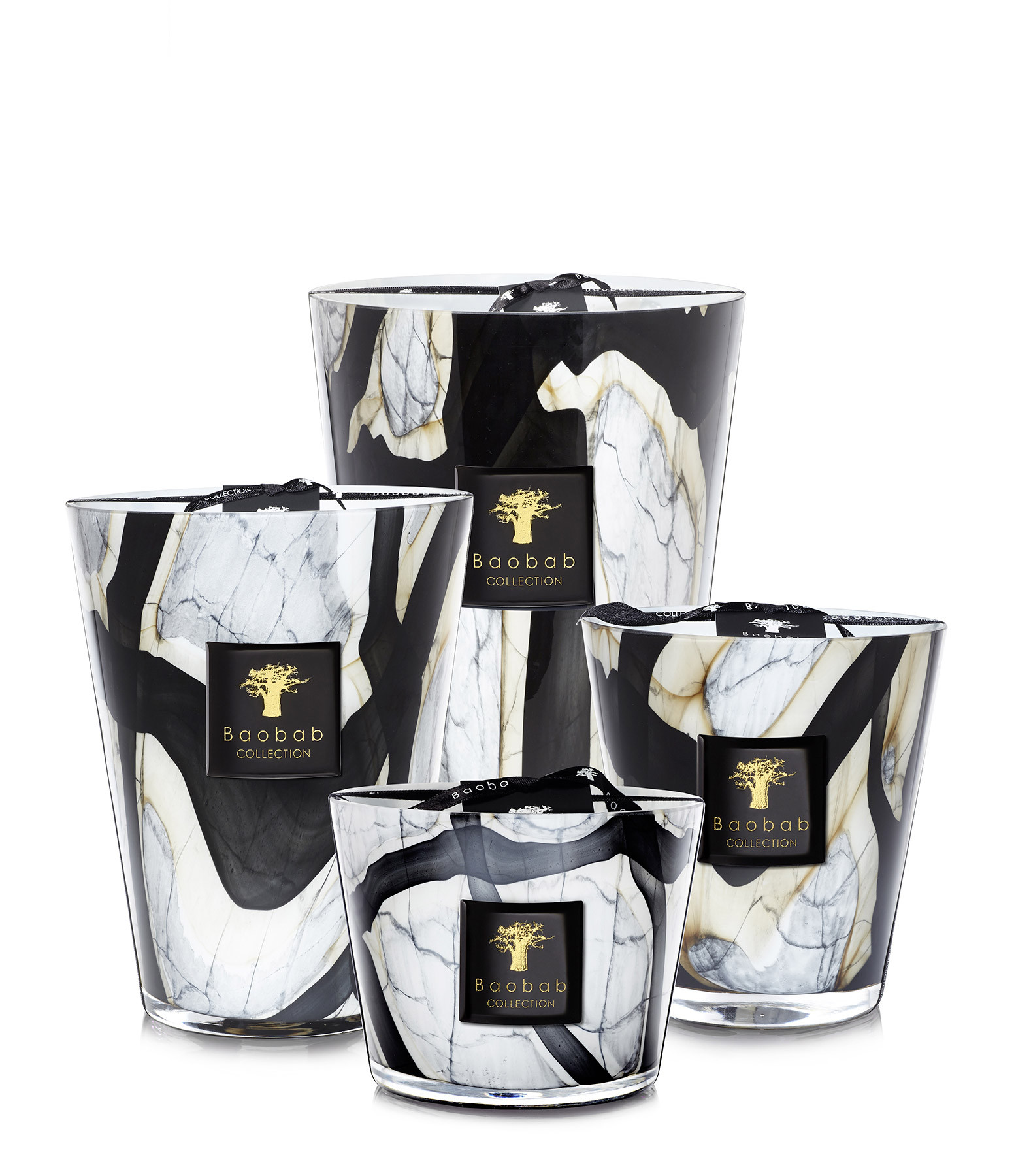 BAOBAB COLLECTION - Bougie Max 24 Stones Marble