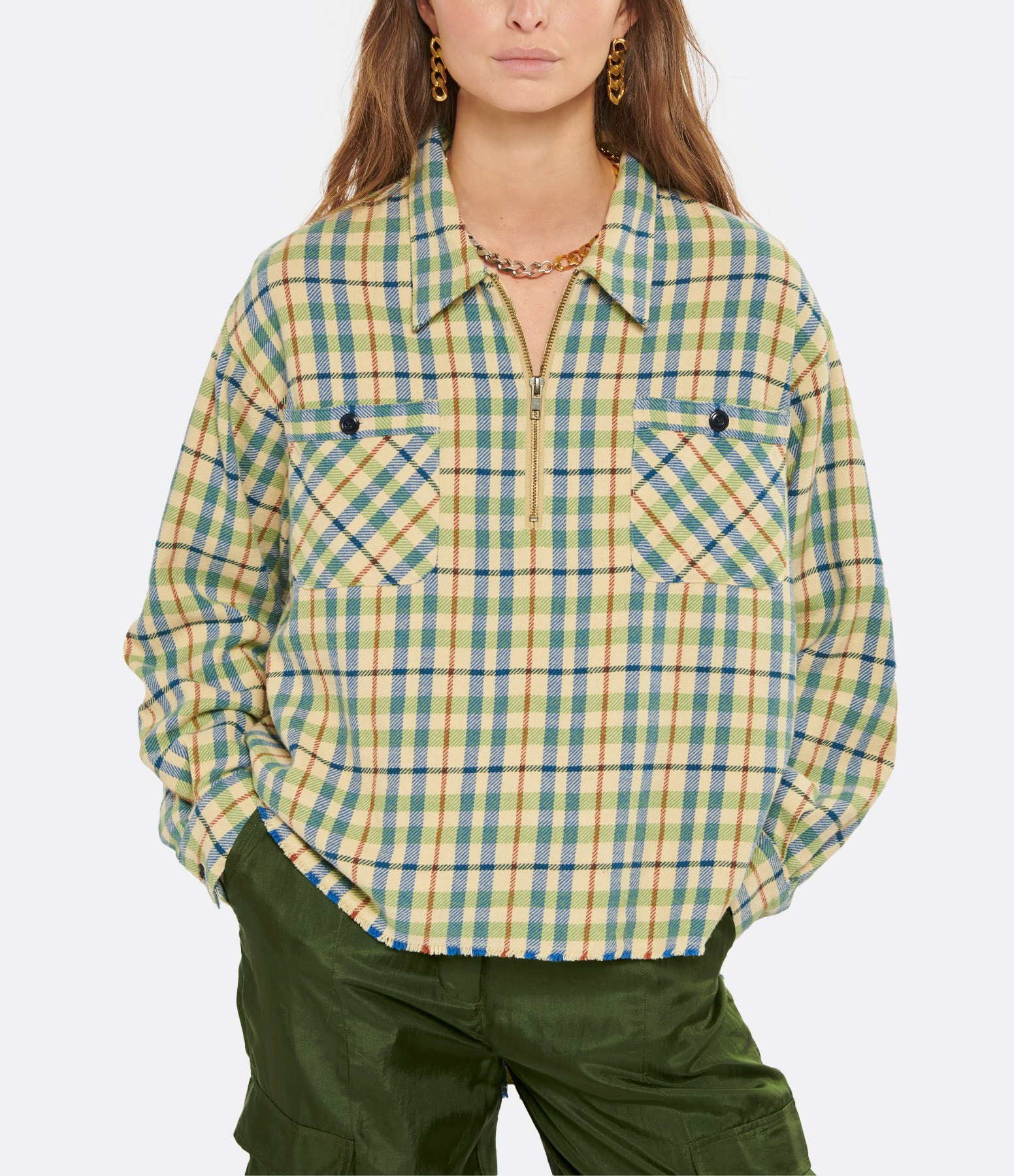 THE GREAT - Chemise The Mountaineer Coton Carreaux Multicolore