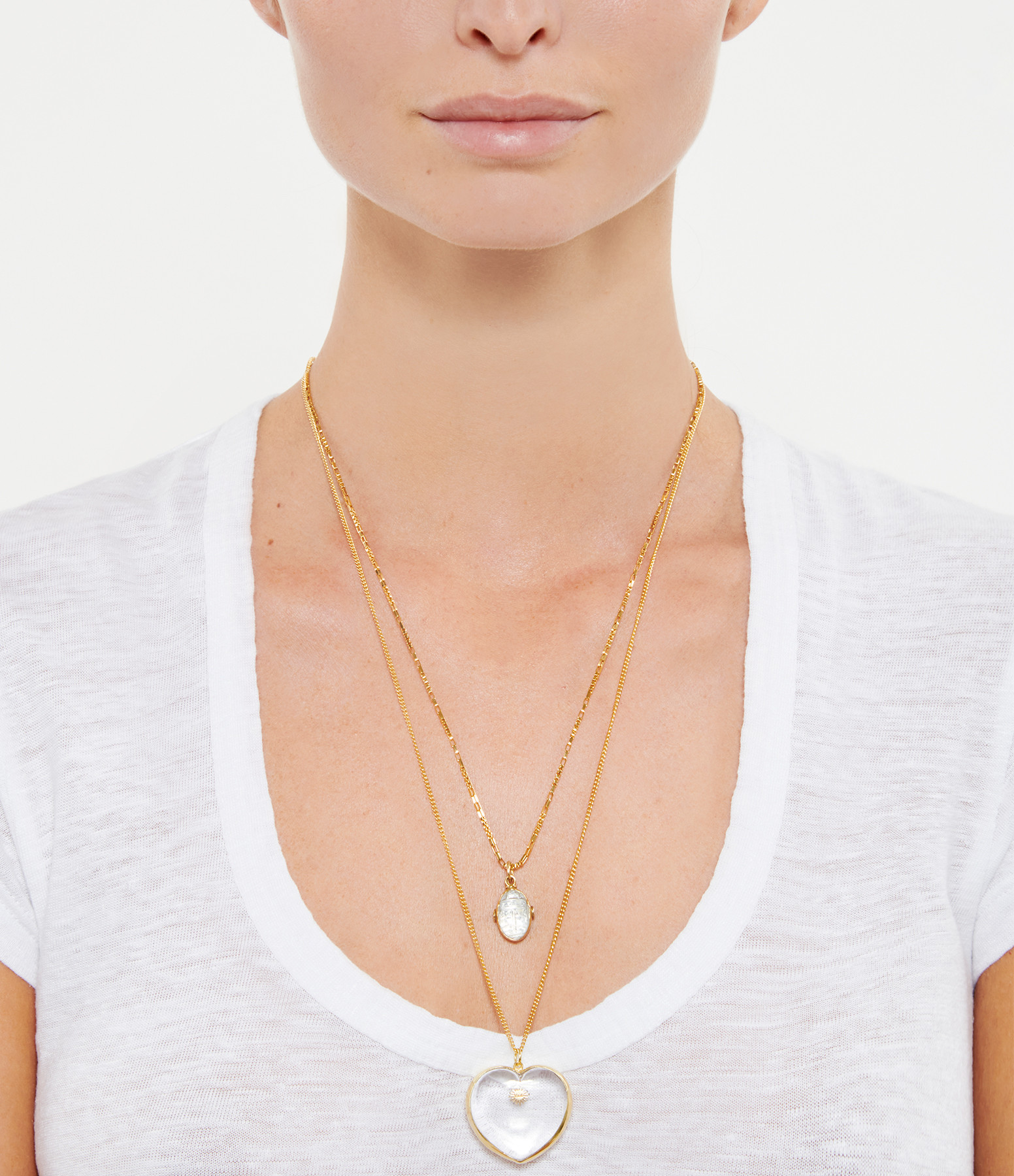 VADI JEWELS - Collier Amour Cristal Plaqué Or