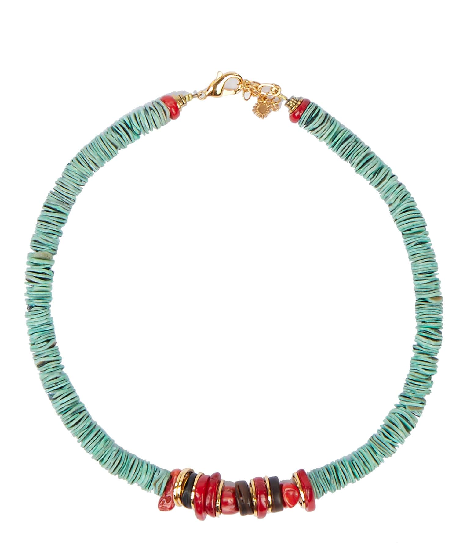 VADI JEWELS - Collier Kally Coquillage Turquoise Gorgone