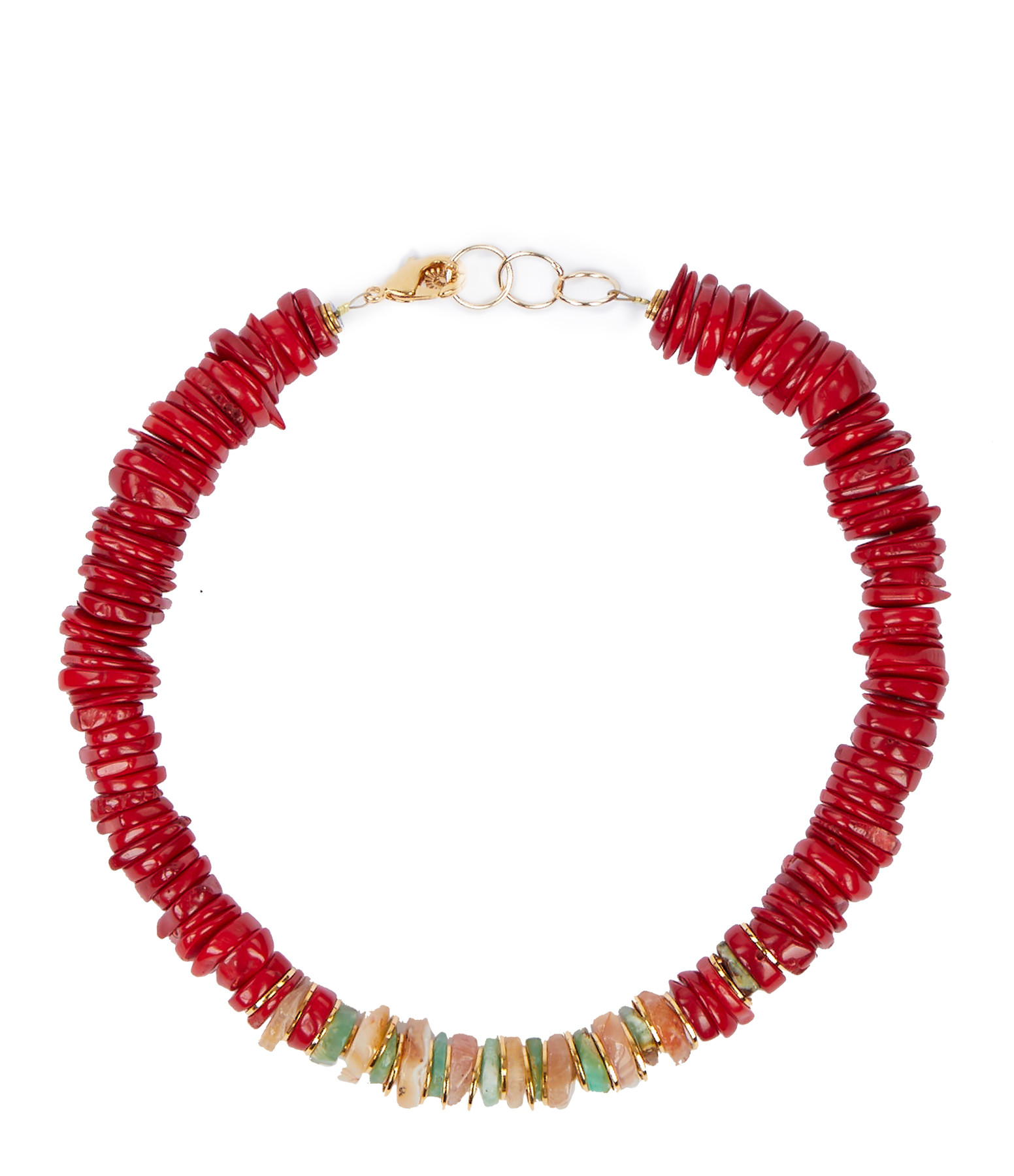 VADI JEWELS - Collier Malone Coquillage Rouge