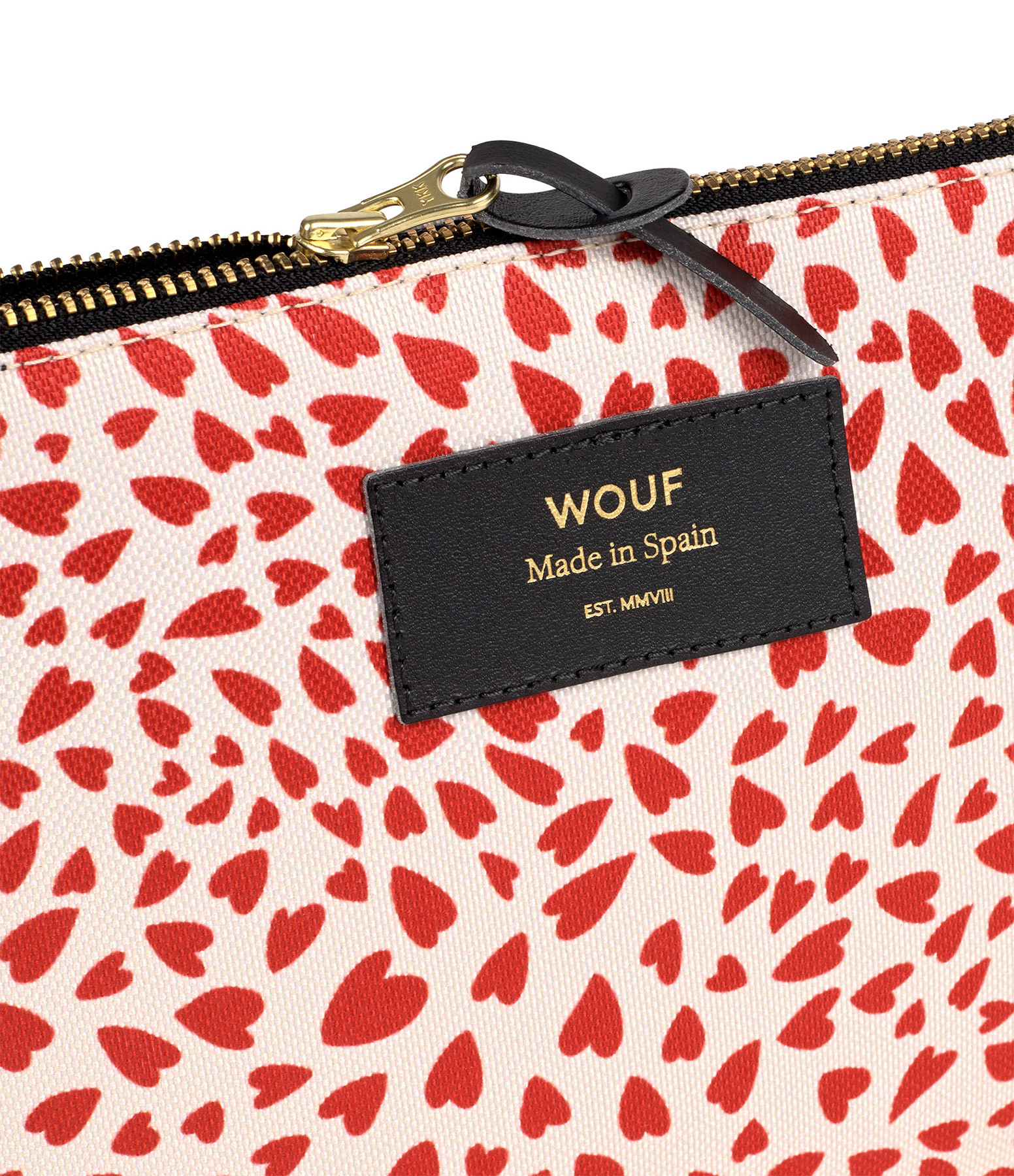 WOUF - Trousse L White Hearts