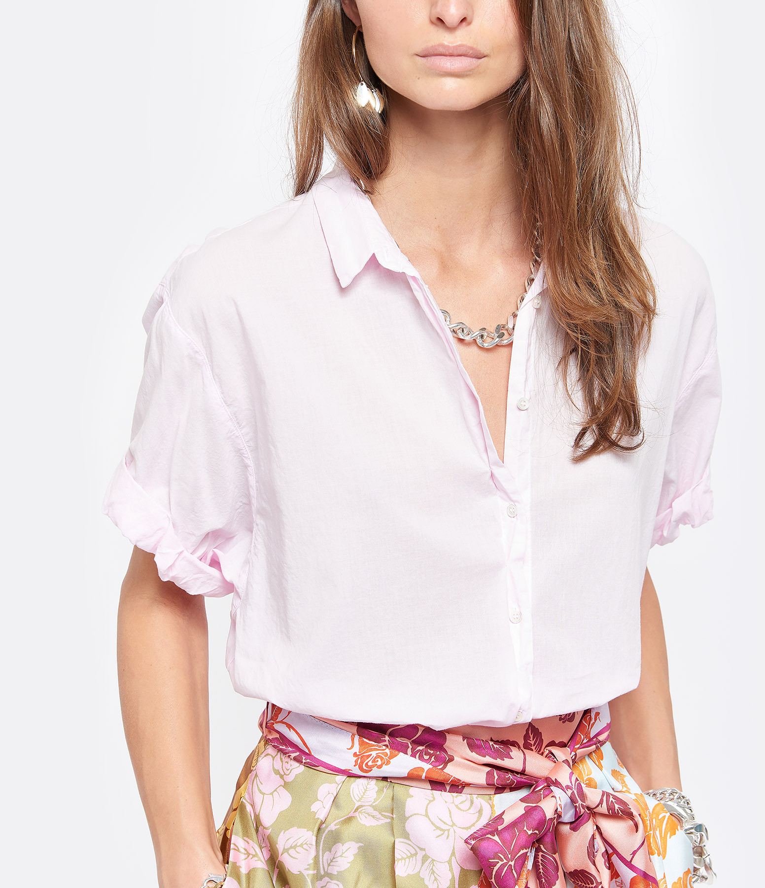 XIRENA - Chemise Channing Coton Rose