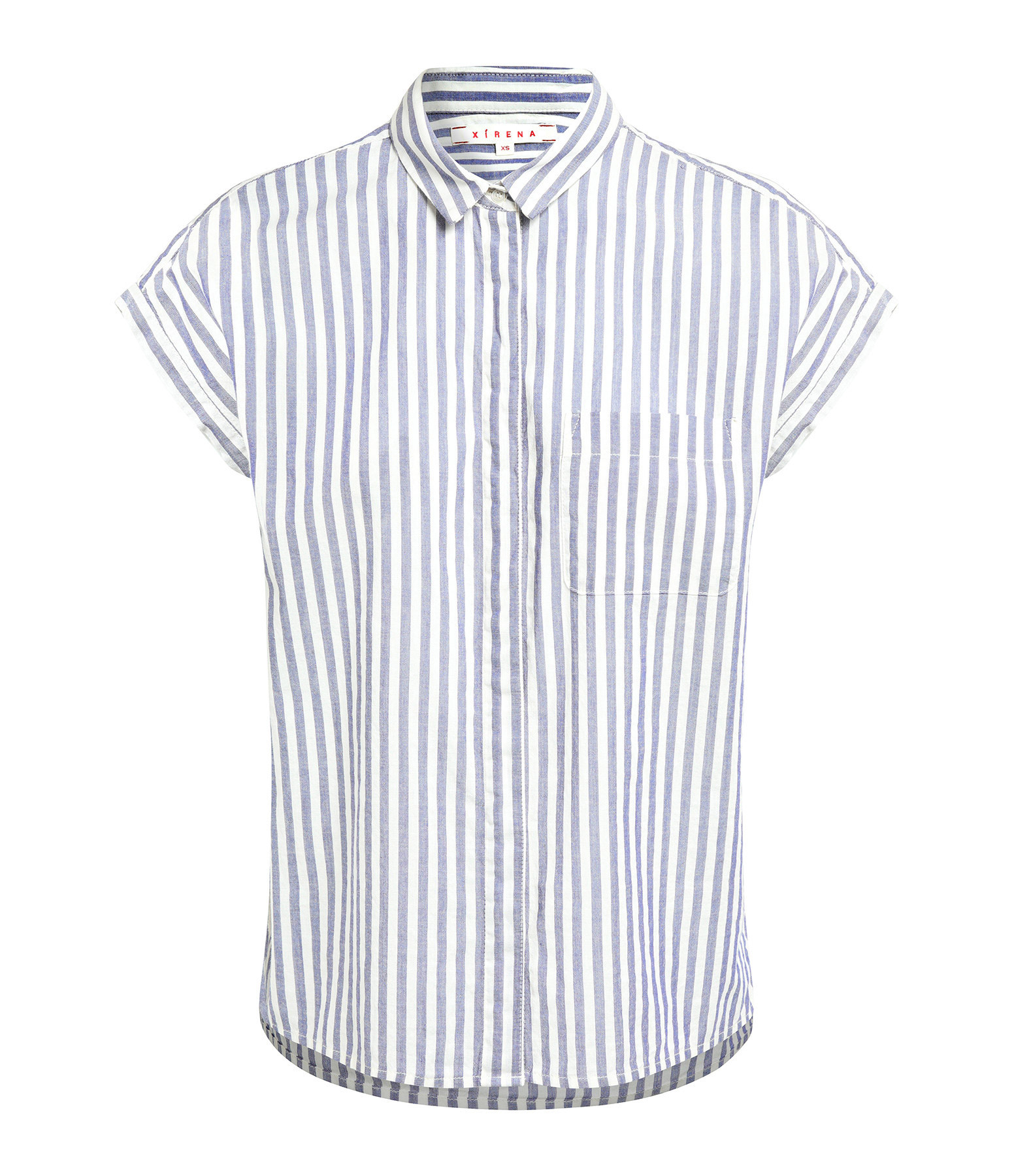 XIRENA - Chemise Wess Coton Rayures Pacific