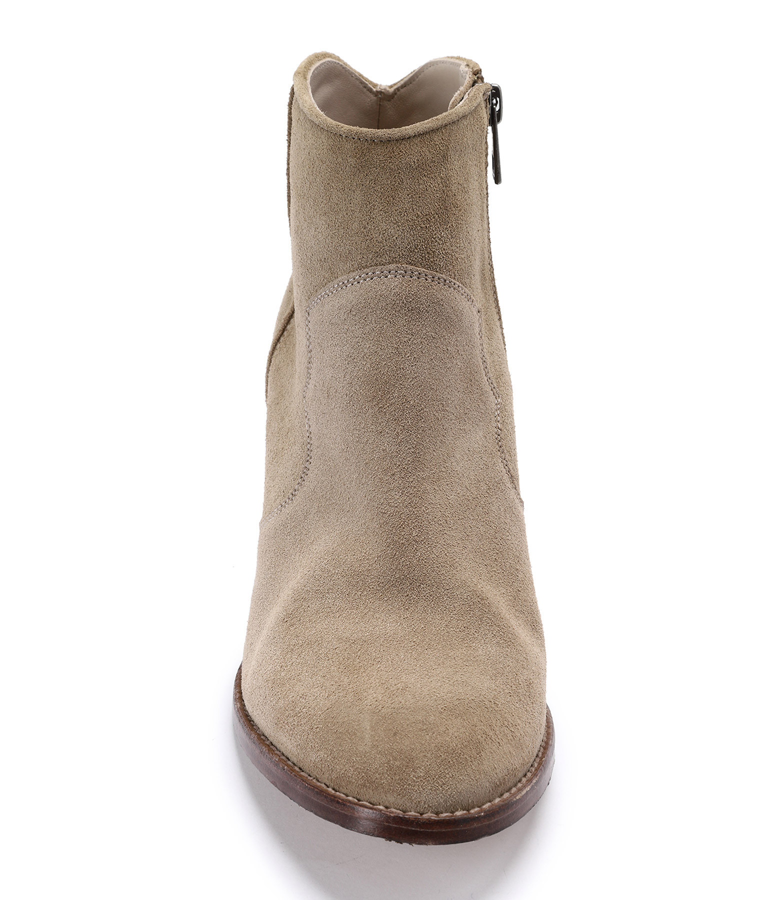 ZADIG & VOLTAIRE - Bottines Molly Cuir Taupe
