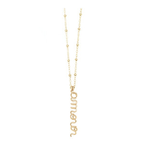 Collier Pendentif Amour Gold Filled