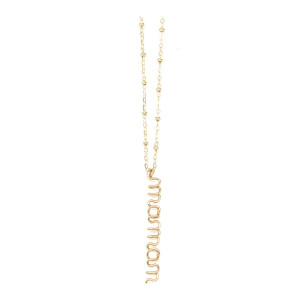 Collier Pendentif Maman Gold Filled