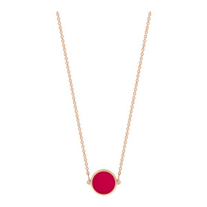 Collier Ever Mini Disc Or Rose Corail