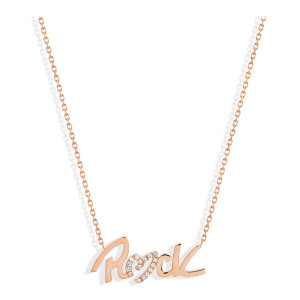 Collier Rock Diamants Or Rose