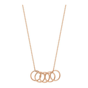 Collier Tiny 5 Cercles Or Rose
